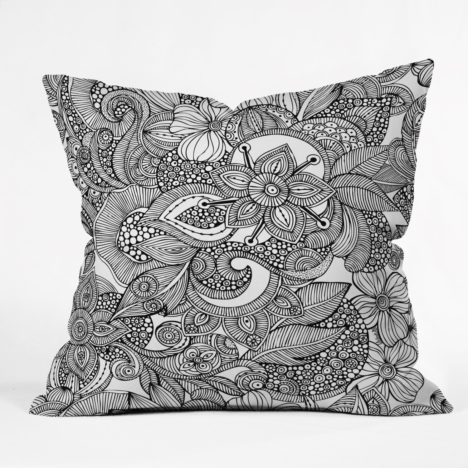 Throw Pillow Doodle : DENY Designs Valentina Ramos Doodles Throw Pillow & Reviews Wayfair