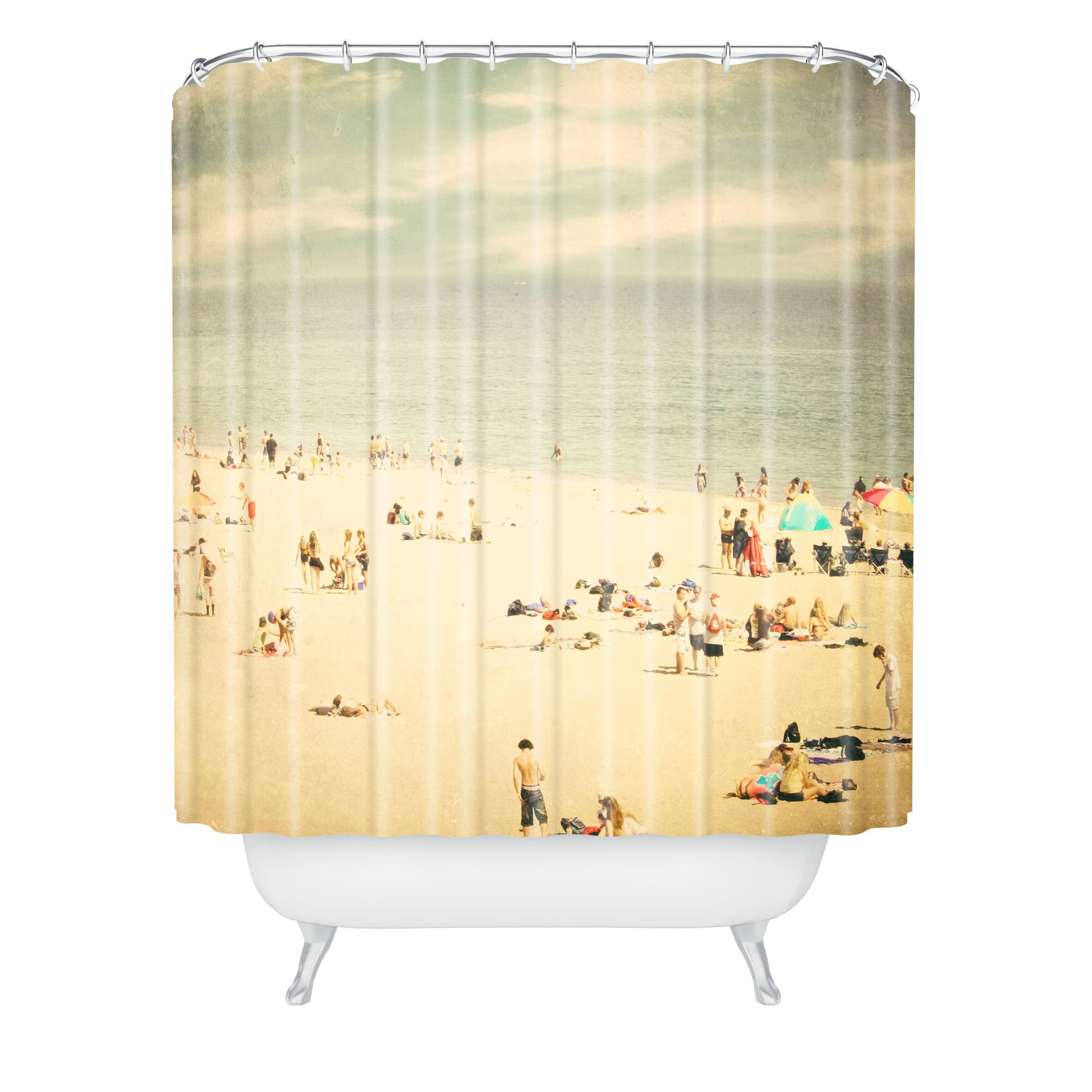 Deny Designs Shannon Clark Vintage Beach Extra Long Shower