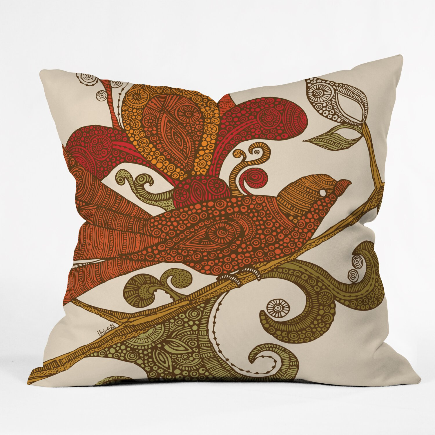 Decorative Pillows With Bird Design : DENY Designs Valentina Ramos the Bird Throw Pillow & Reviews Wayfair