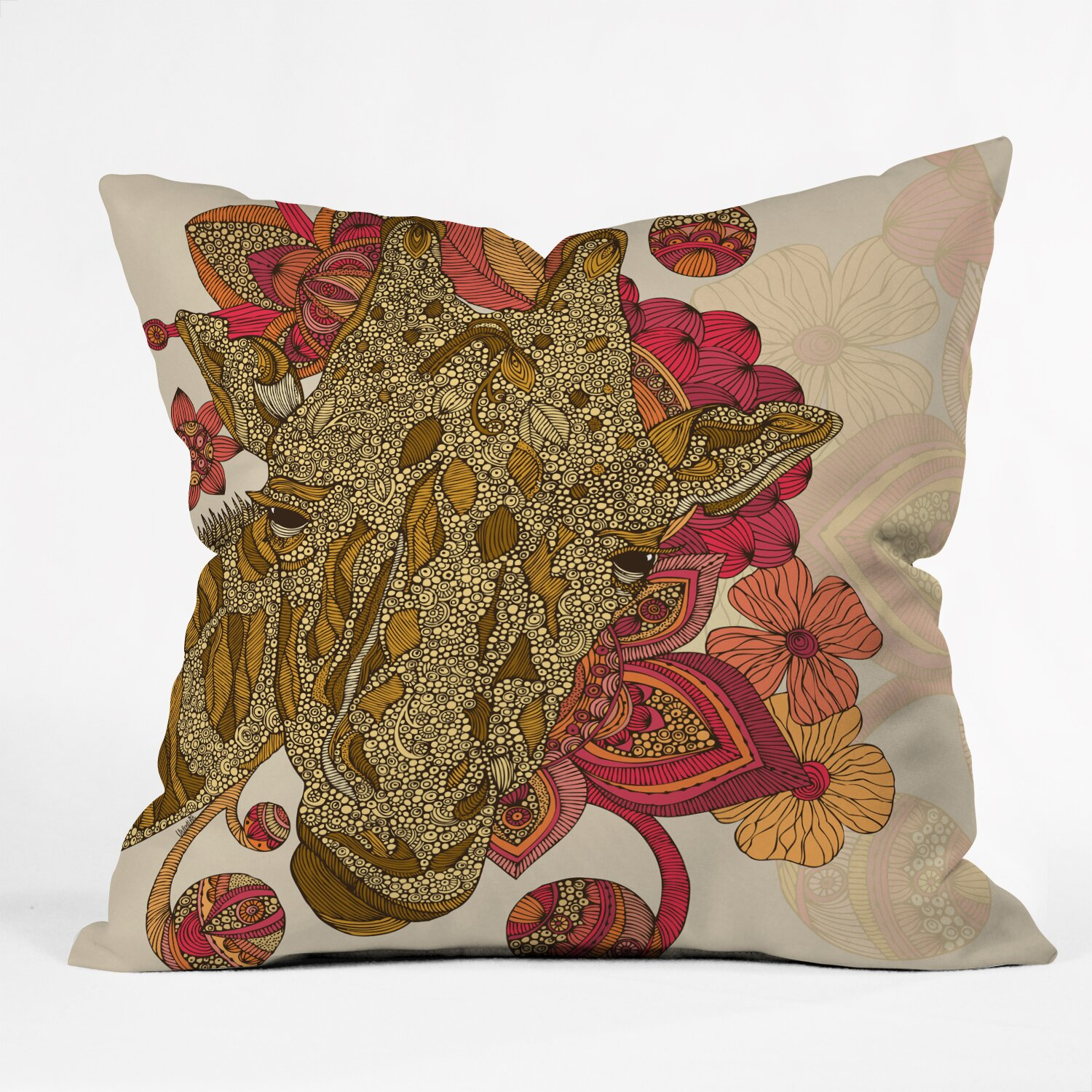 Giraffe Decorative Pillow : DENY Designs Valentina Ramos the Giraffe Throw Pillow & Reviews Wayfair.ca