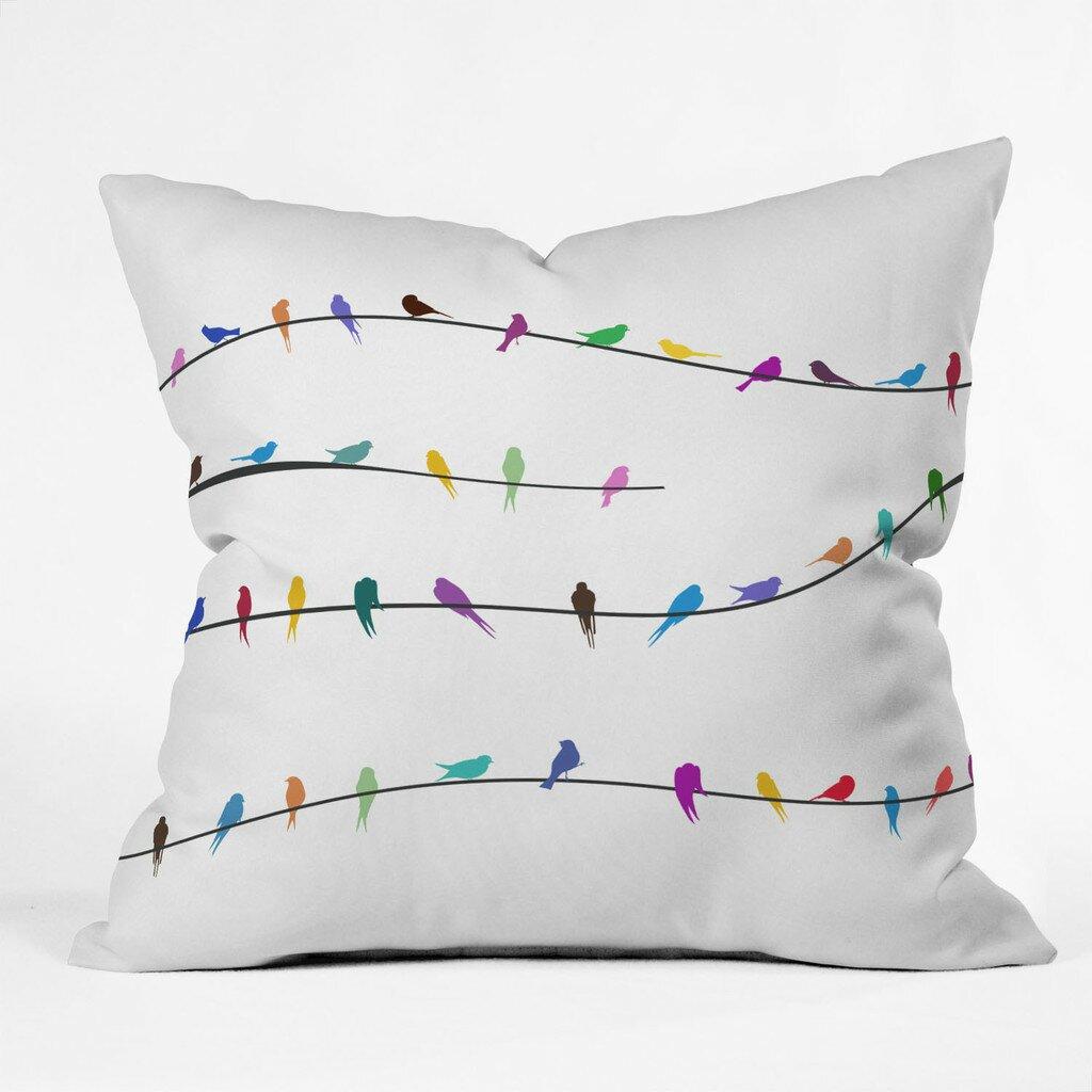 DENY Designs Belle 13 Happy Spring Throw Pillow & Reviews Wayfair
