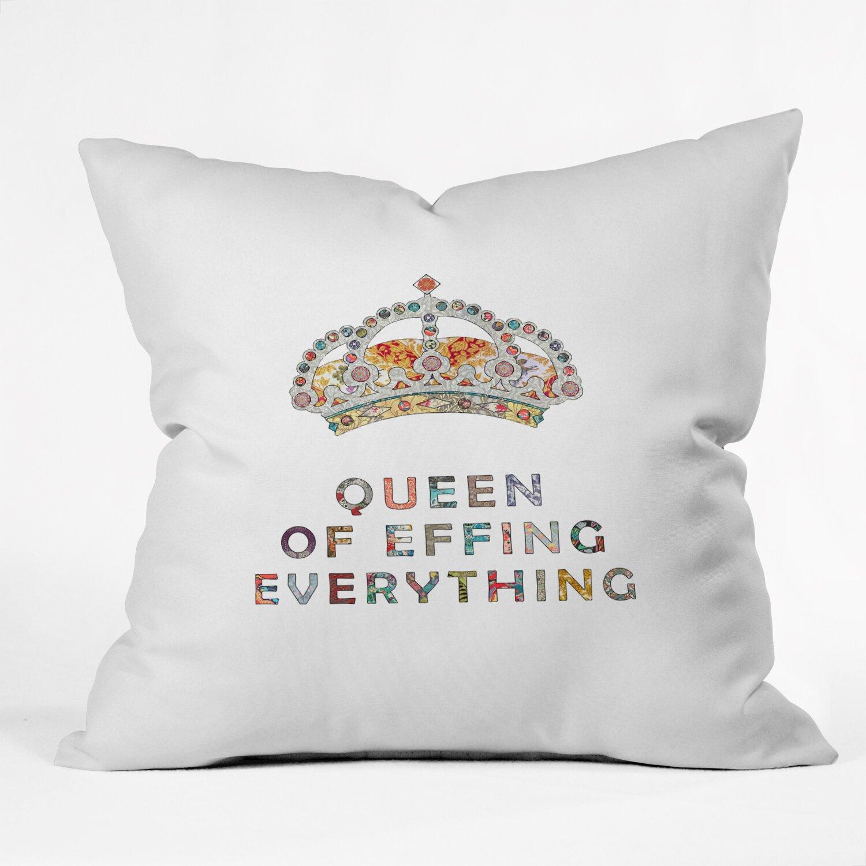 DENY Designs Bianca Green Her Daily Motivation Throw Pillow Wayfair