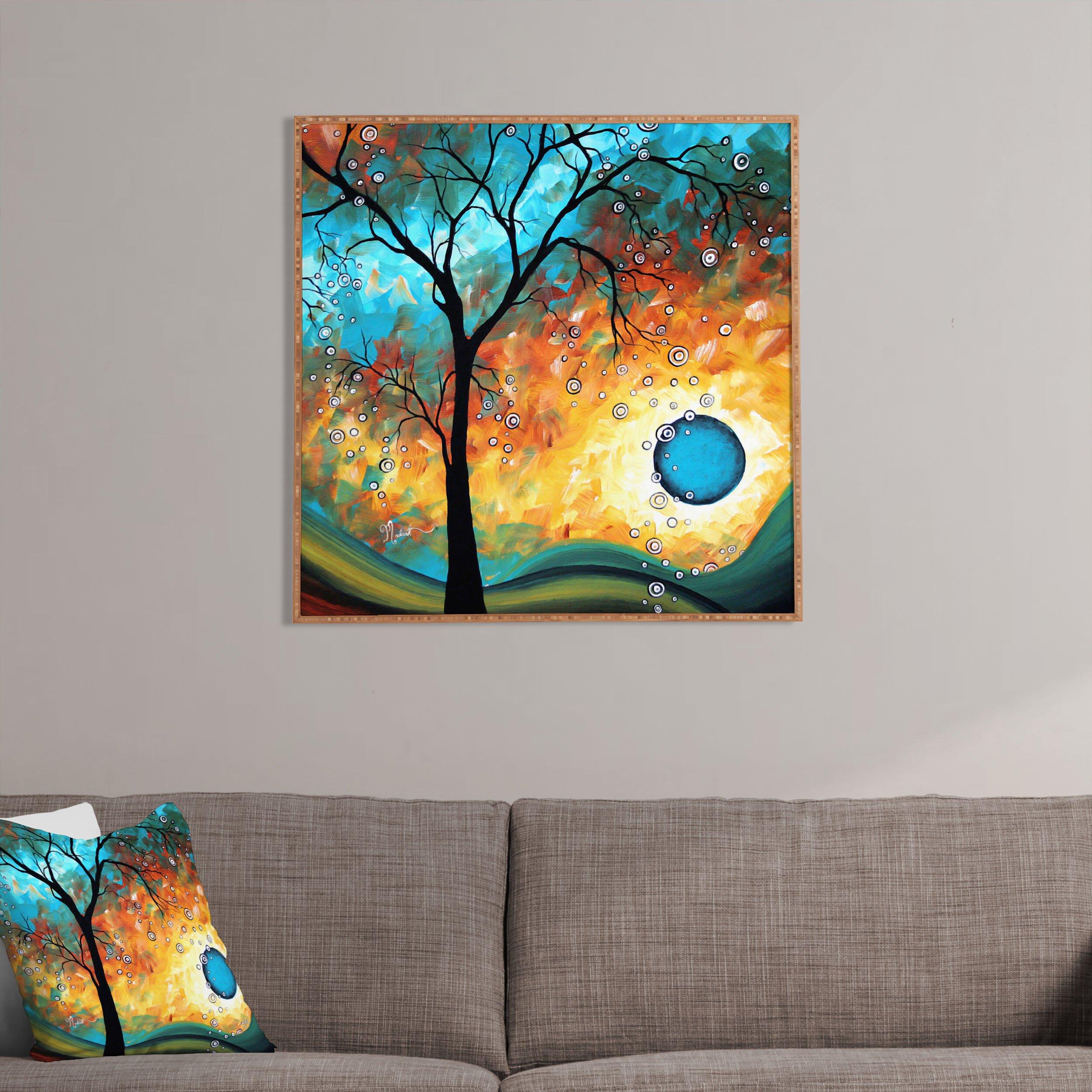 Artistic Wall Design Inc : Deny designs aqua burn by madart inc framed graphic art