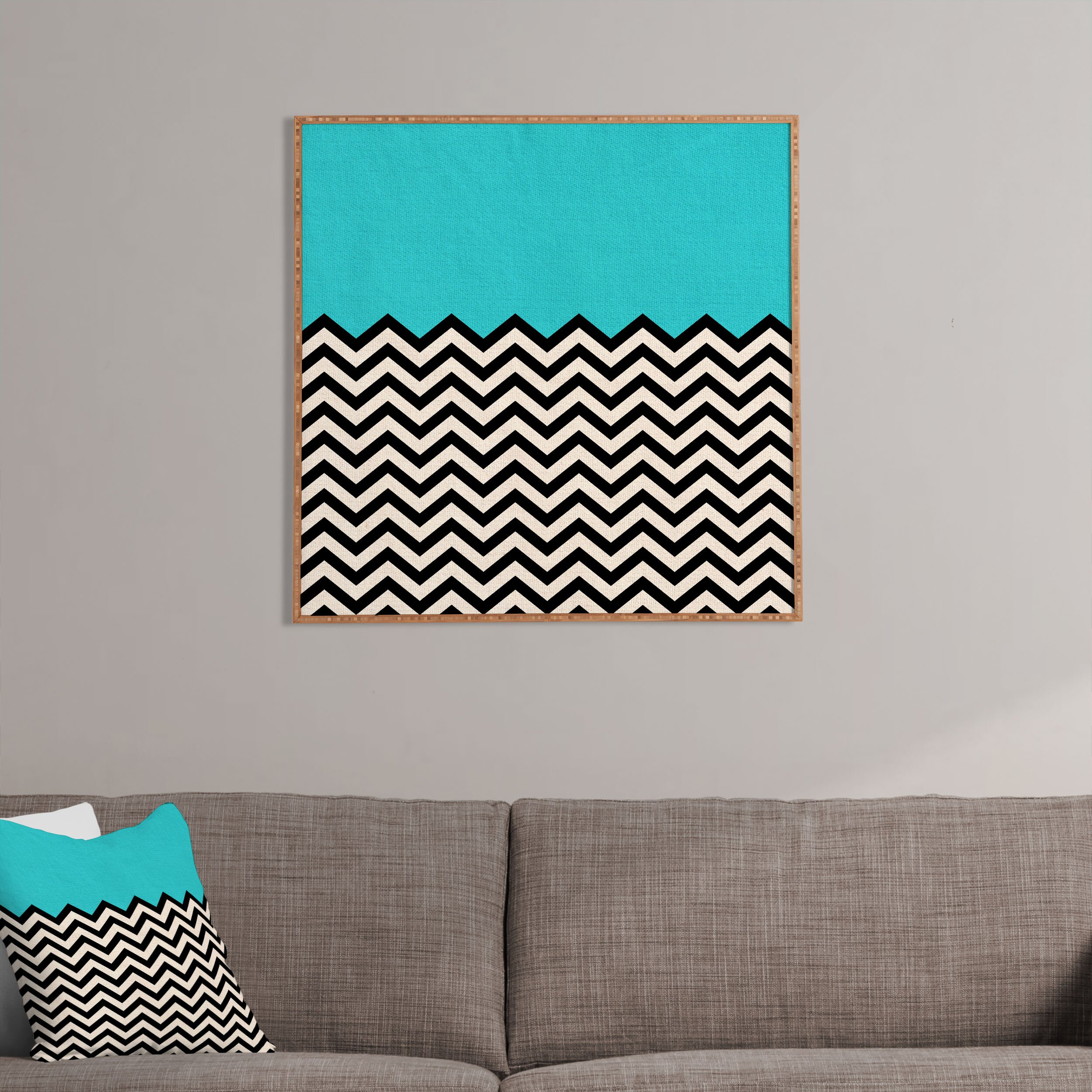 Deny designs follow the sky by bianca green framed graphic art in blue