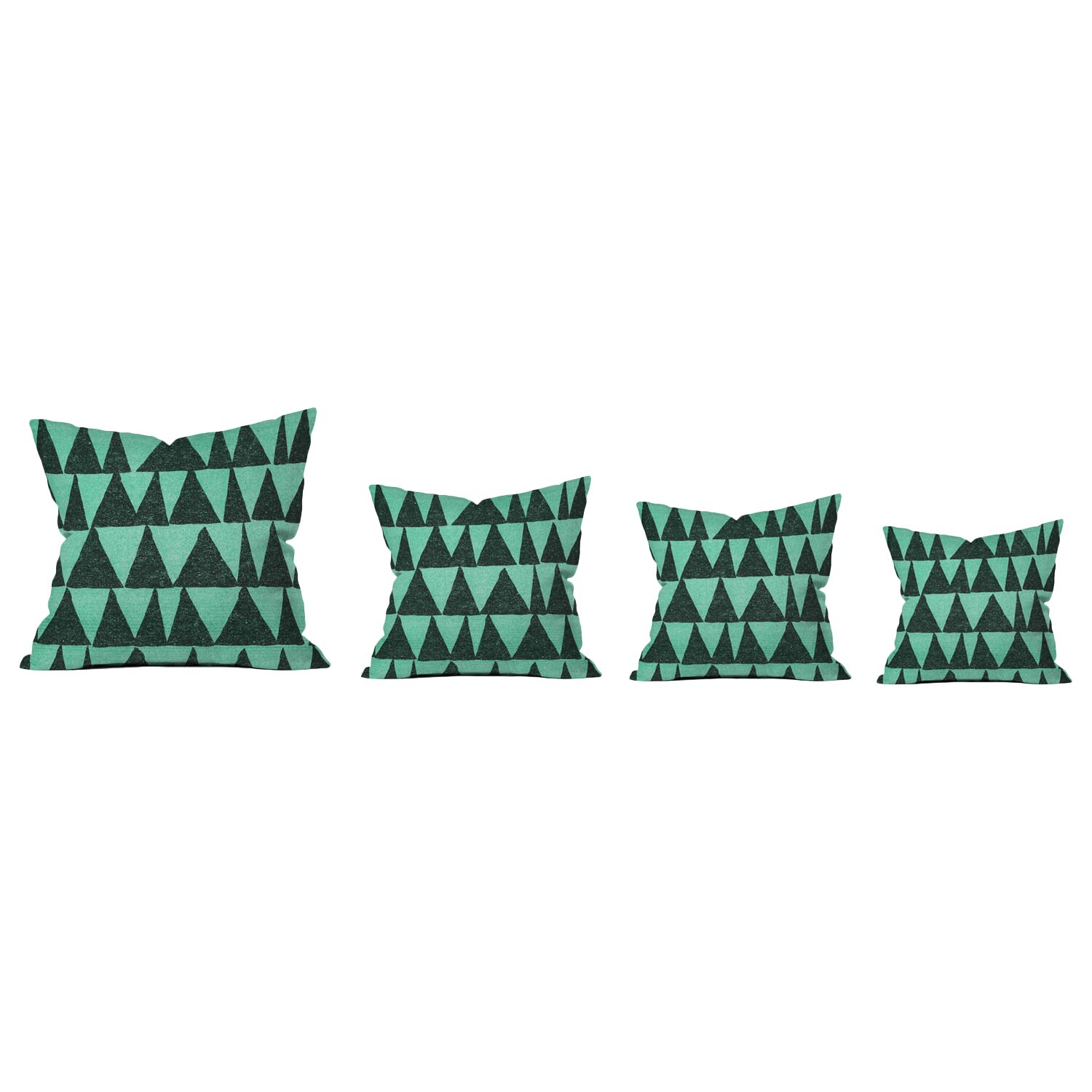 DENY Designs Nick Nelson Analogous Shapes Indoor/Outdoor Throw Pillow & Reviews Wayfair
