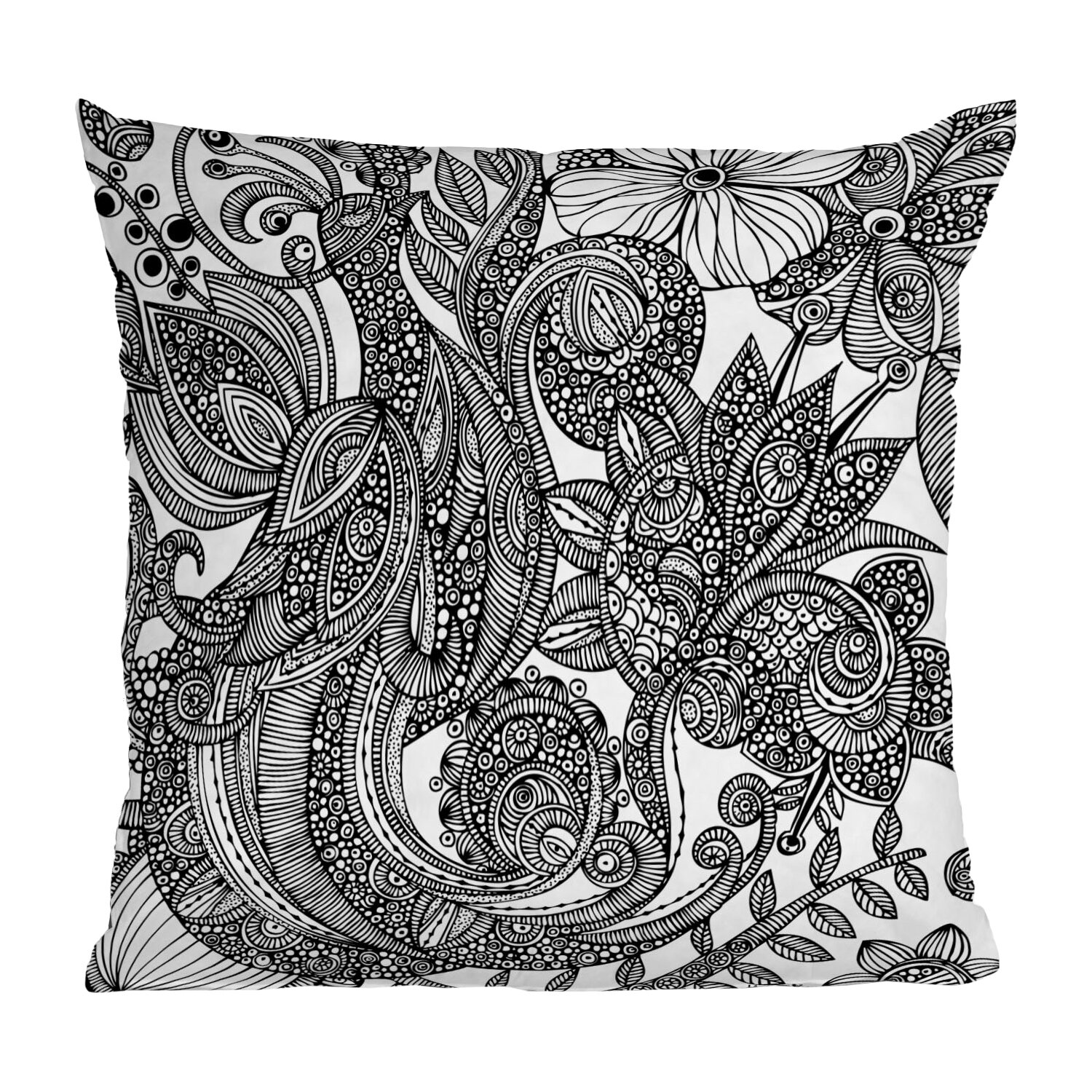 DENY Designs Valentina Ramos Bird Throw Pillow & Reviews Wayfair