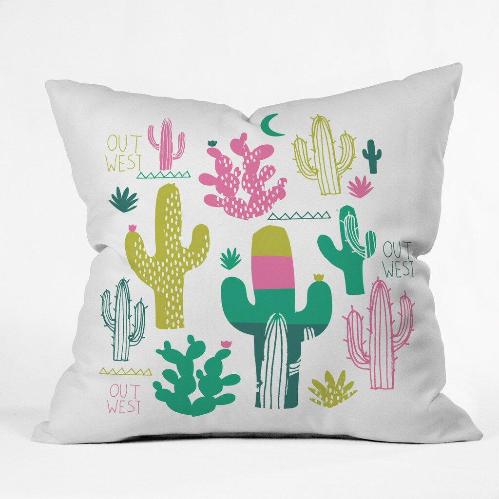 Zoe Decorative Pillows : DENY Designs Zoe Wodarz Cactus Out West Polyester Throw Pillow Wayfair