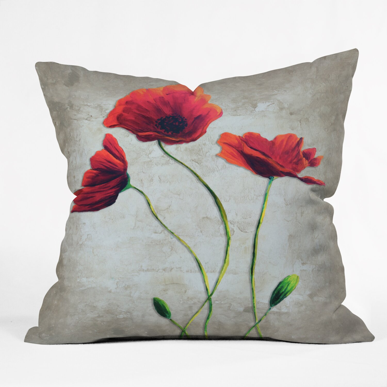 DENY Designs Madart Inc. Vibrant Poppies I Throw Pillow & Reviews Wayfair