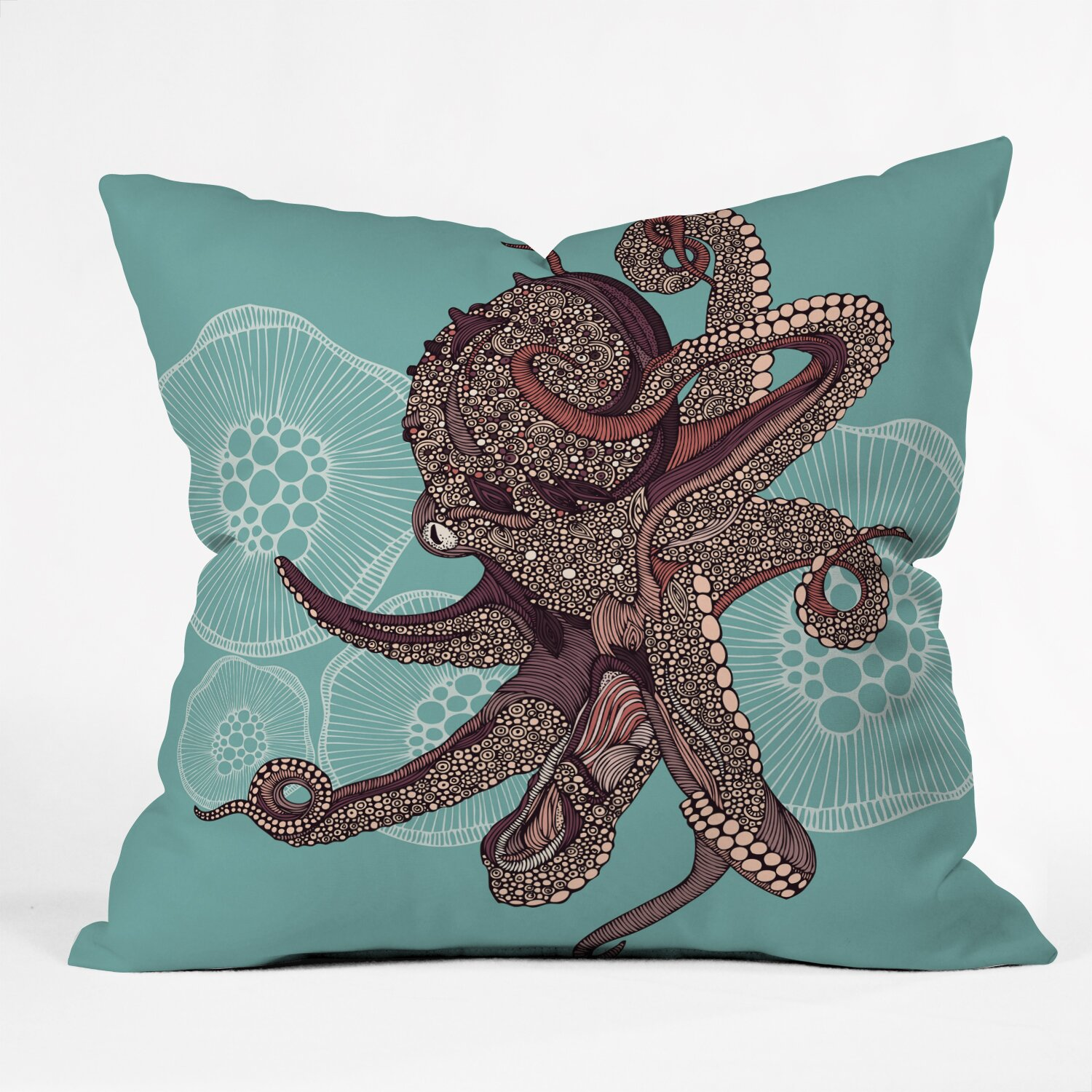 DENY Designs Valentina Ramos Octopus Bloom Throw Pillow & Reviews Wayfair