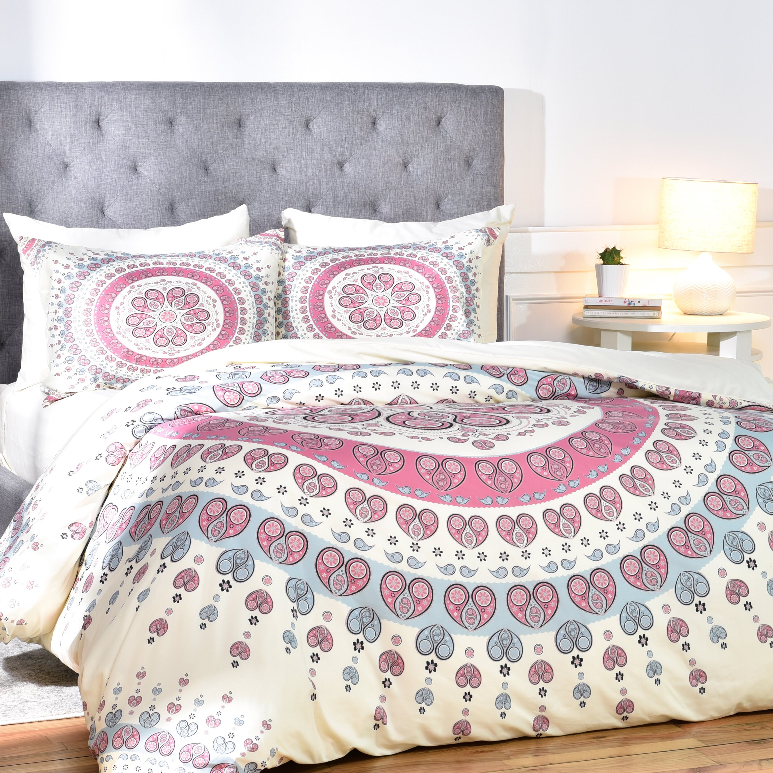 Bungalow Rose Navya Wood Storage Bedroom Bench Reviews: Bungalow Rose Silkeborg Duvet Cover Set