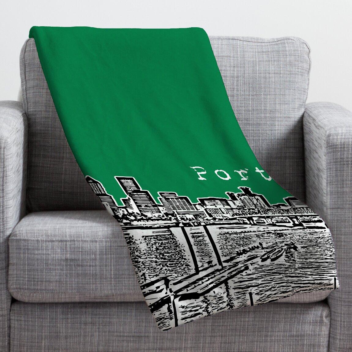 DENY Designs Bird Ave Portland Throw Blanket & Reviews