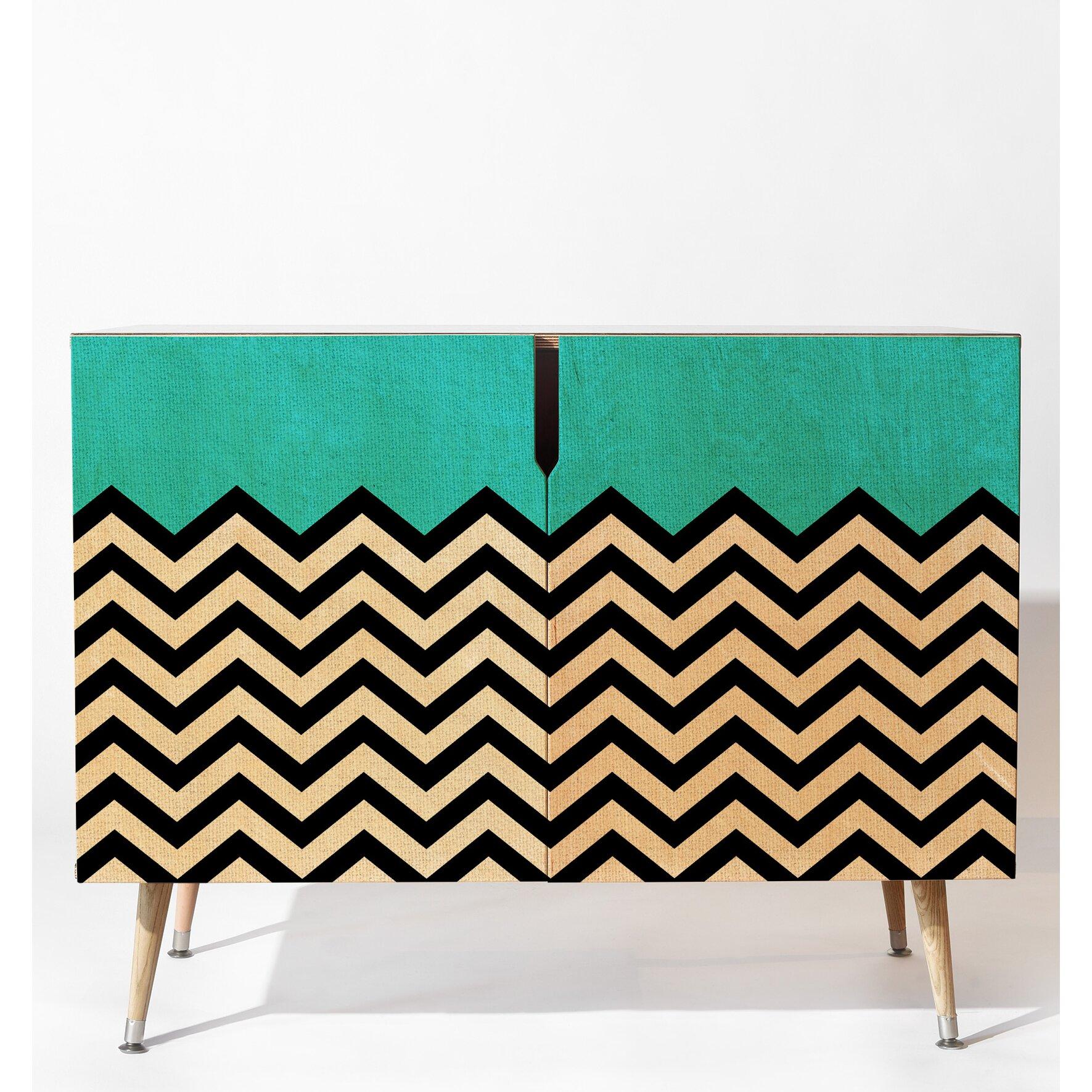 Deny designs bianca green follow the sky accent cabinet wayfair