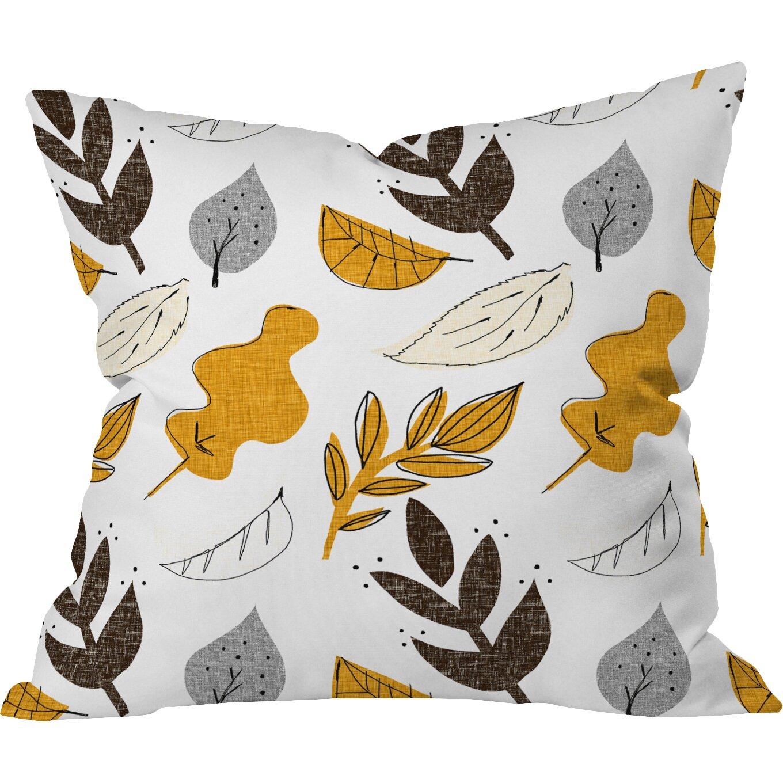 DENY Designs Mummysam Fall Leaves Throw Pillow Wayfair