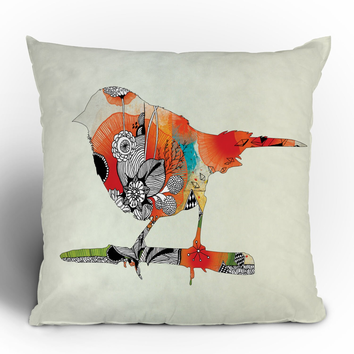 Throw Pillows With Birds : DENY Designs Iveta Abolina Little Bird Throw Pillow & Reviews Wayfair