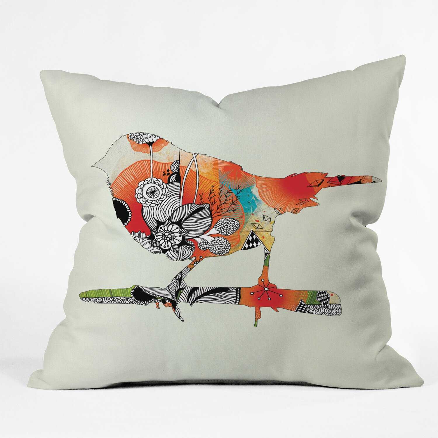Decorative Pillows With Bird Design : DENY Designs Iveta Abolina Little Bird Throw Pillow & Reviews Wayfair