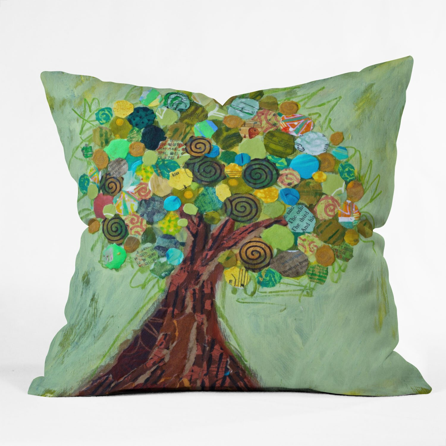 Designs Of Throw Pillow : DENY Designs Elizabeth St Hilaire Nelson Spring Tree Throw Pillow & Reviews Wayfair