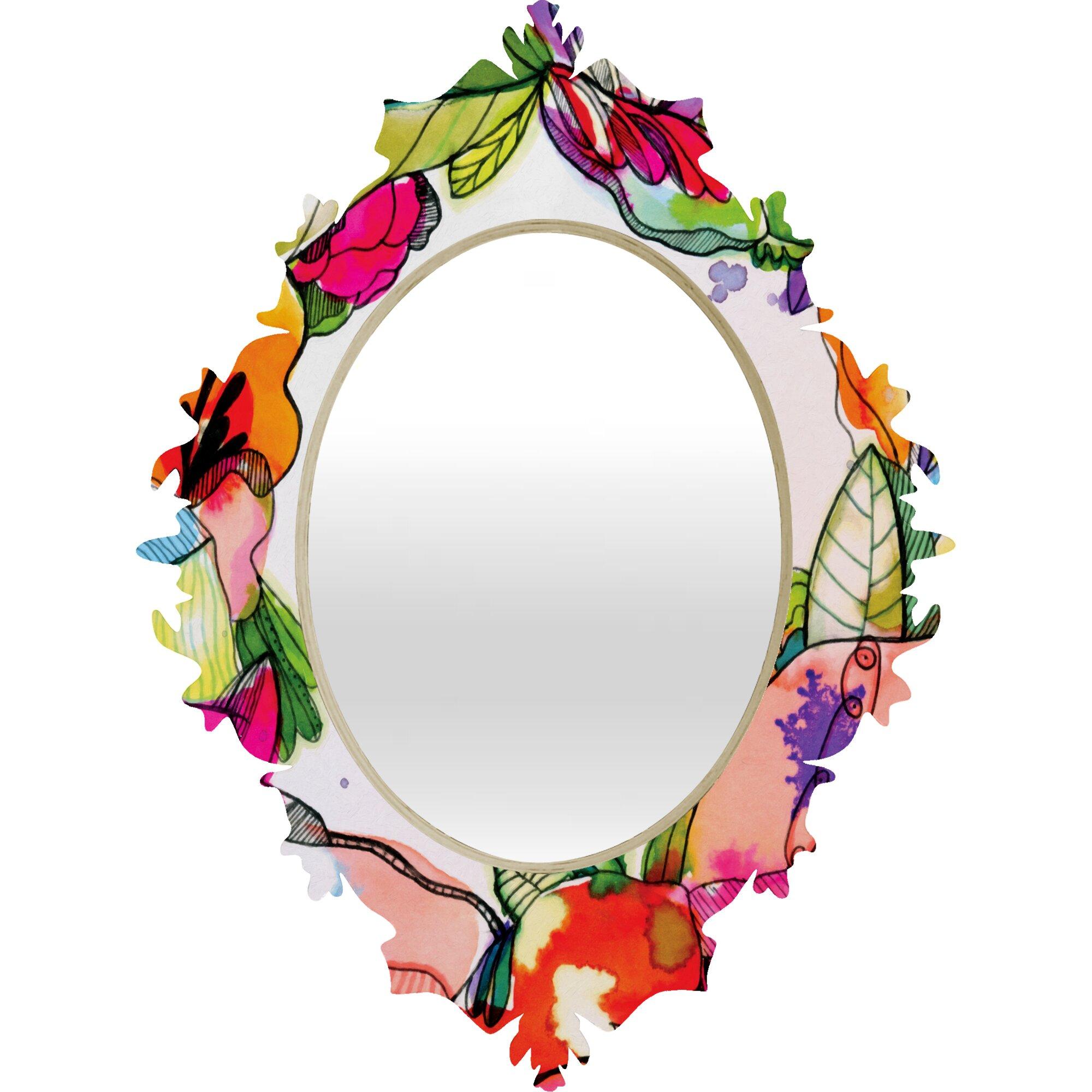 deny designs cayenablanca floral frame baroque mirror  u0026 reviews