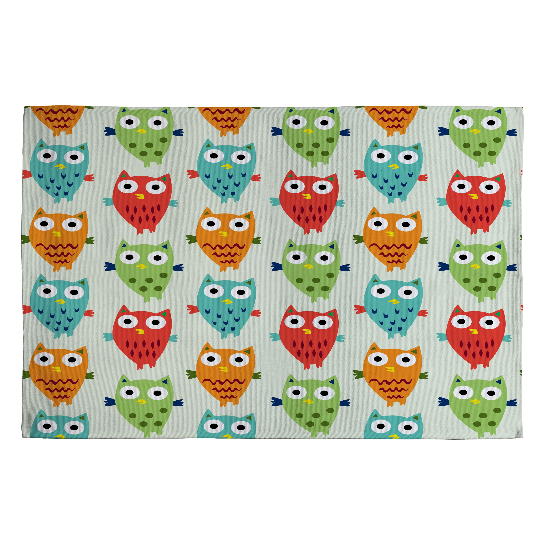 DENY Designs Andi Bird Owl Fun Kids Rug & Reviews