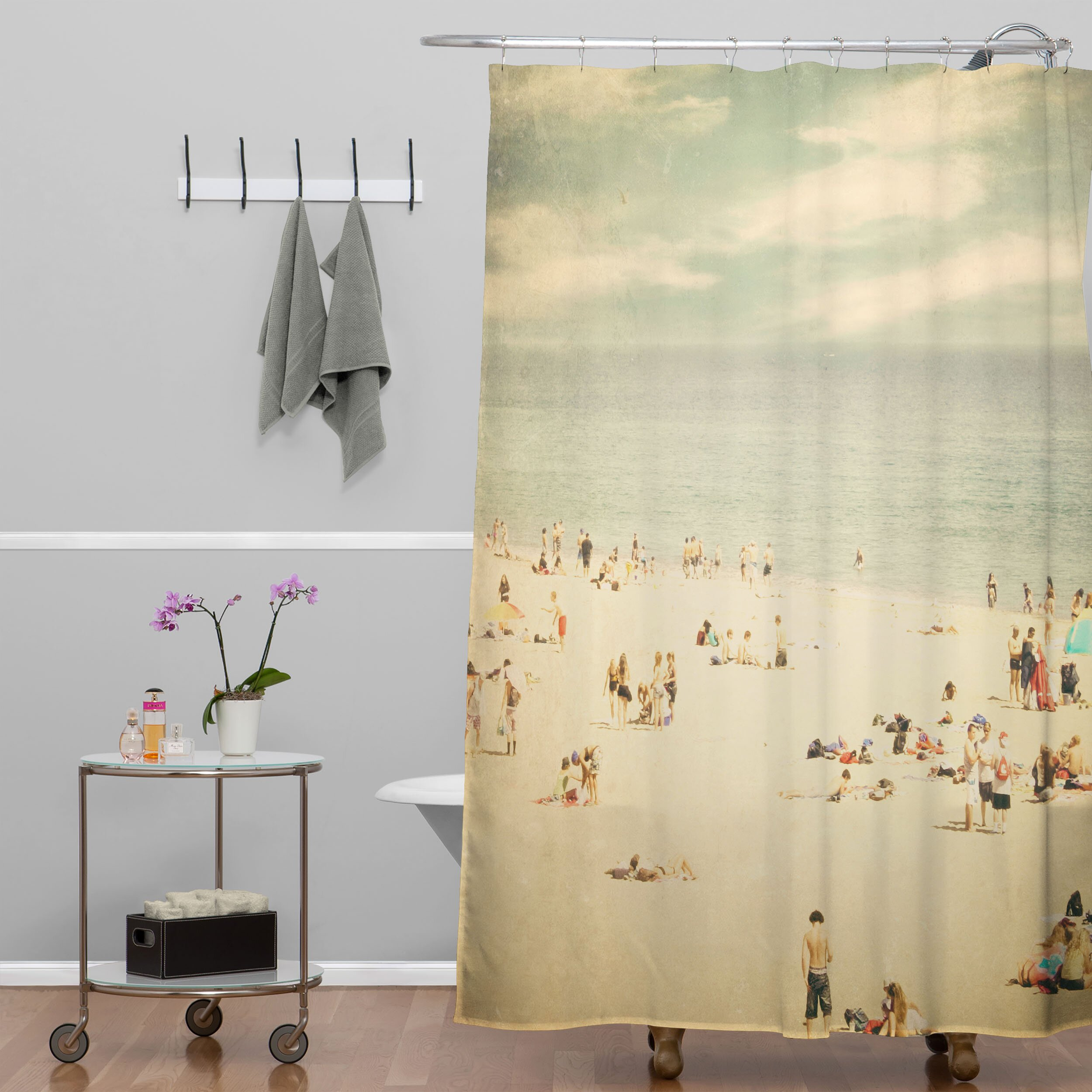Vintage shower curtains - Deny Designs Shannon Clark Vintage Beach Shower Curtain Deny Designs Shannon Clark Vintage Beach Shower Curtain
