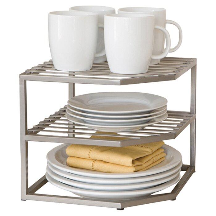 seville classics corner kitchen cabinet organizer rack