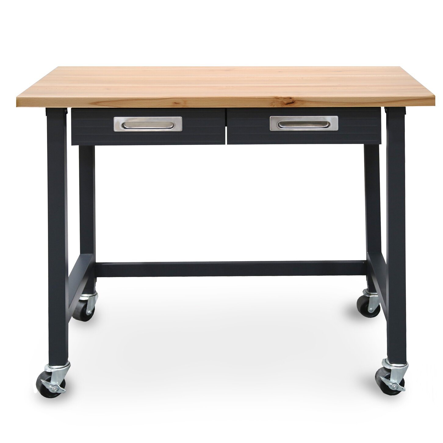 Symple Stuff Commercial Heavy-Duty Wood Top Workbench & Reviews | Wayfair