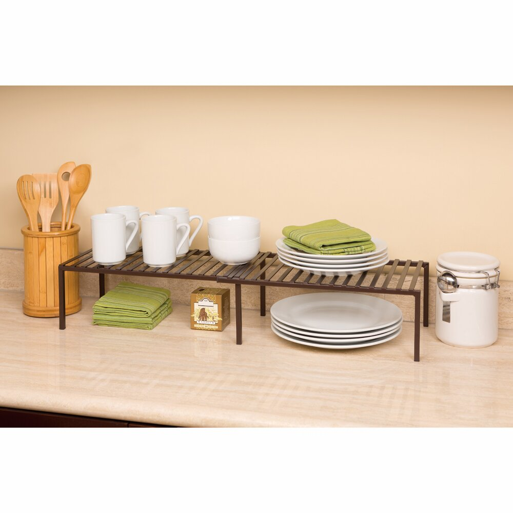 Kitchen Shelf Organiser: Seville Classics Expandable Kitchen Cabinet Shelf