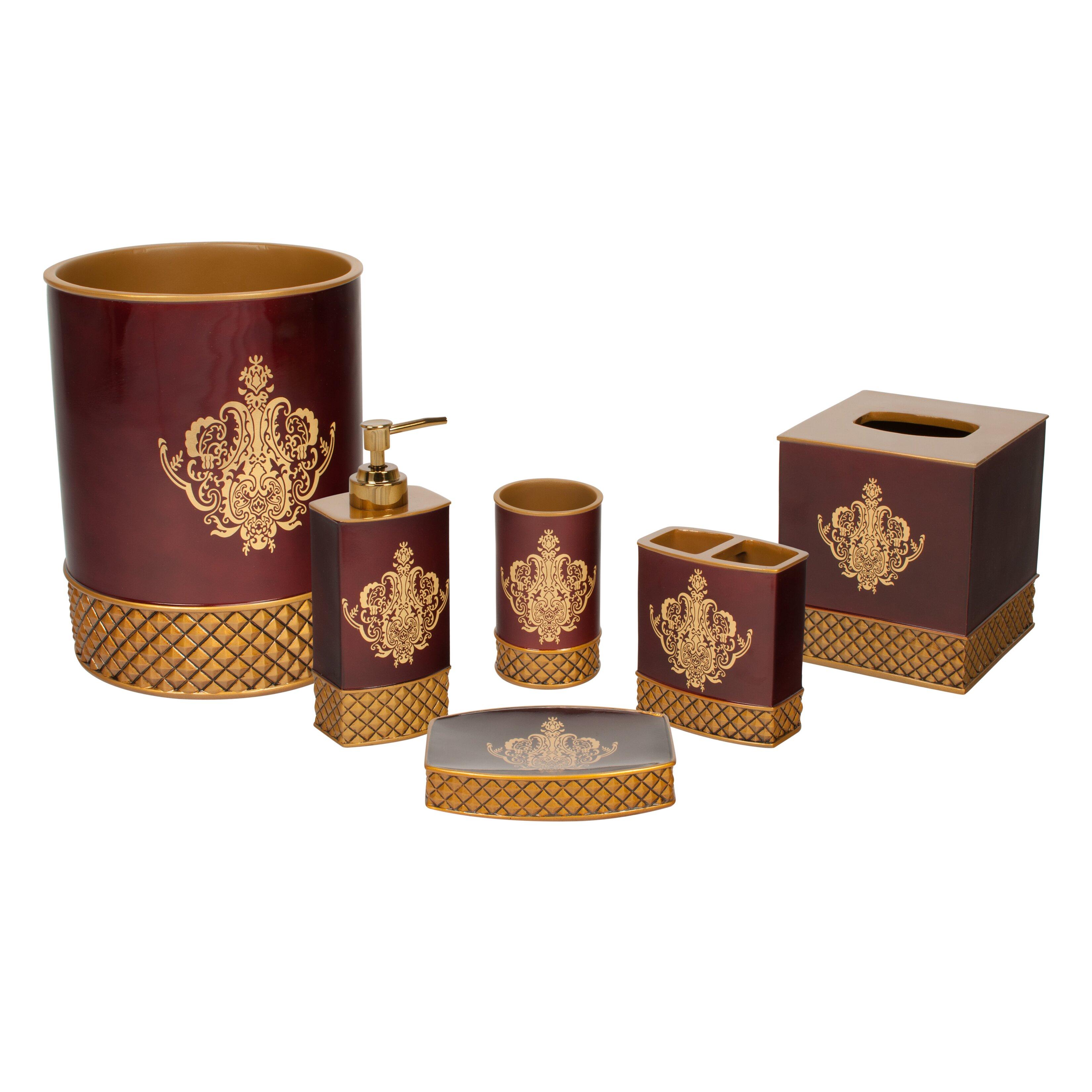 Austin horn classics china art 6 piece bath accessory set for Bathroom accessory kit