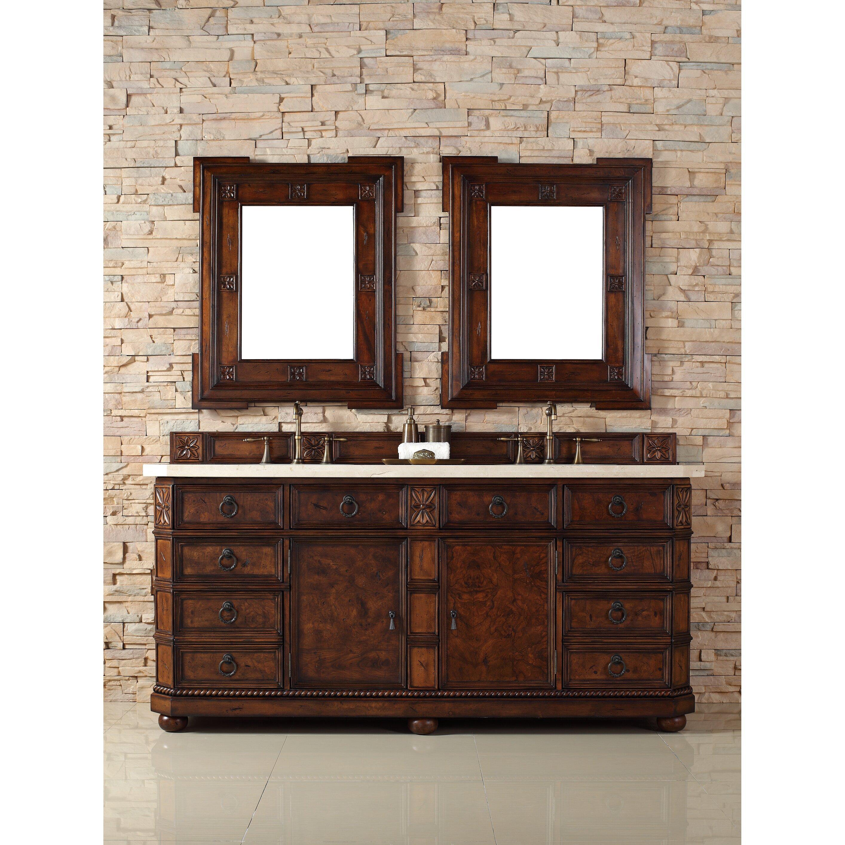 James Martin Furniture Regent 72 Double English Burl Bathroom Vanity Set Reviews Wayfair