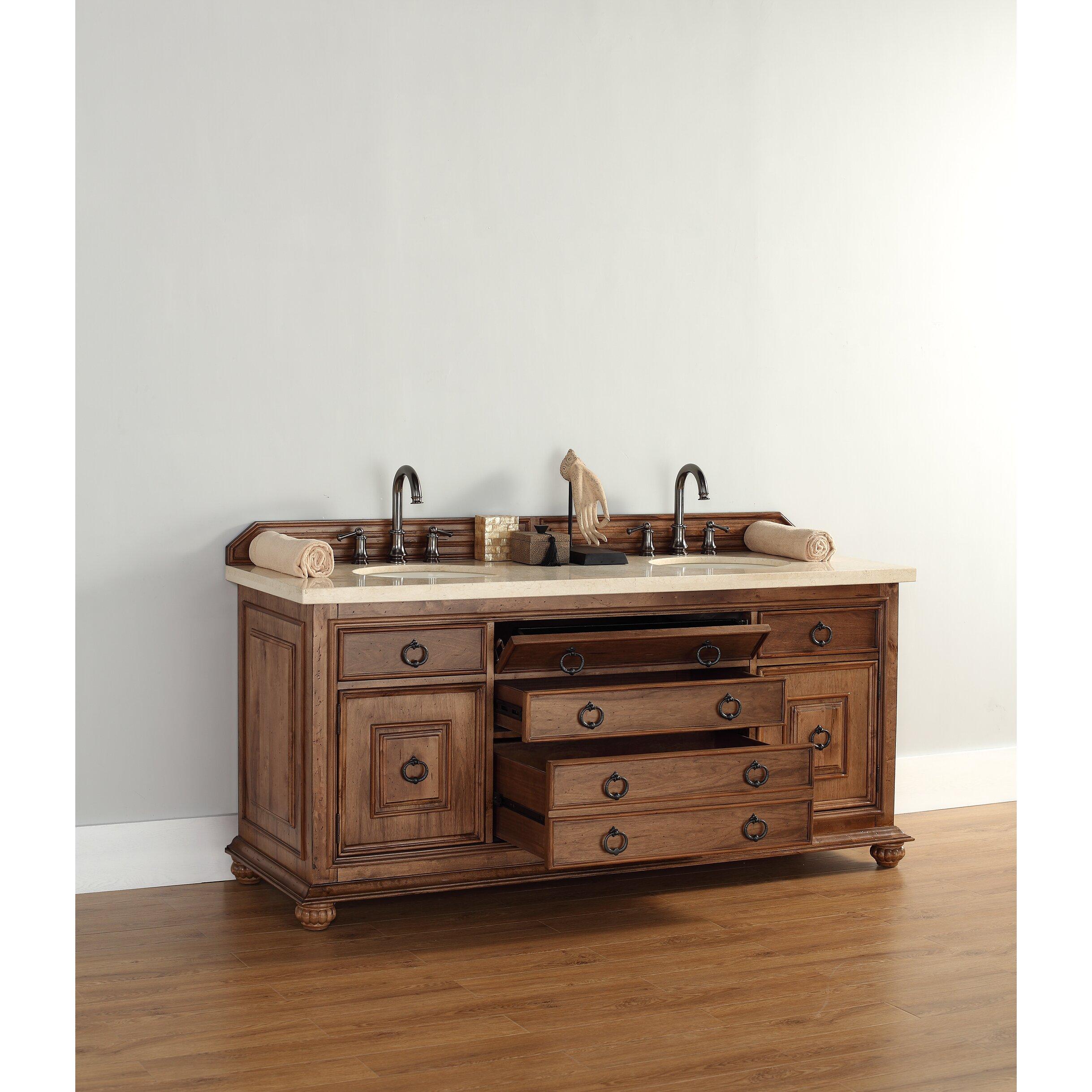 James Martin Furniture Mykonos 72 Double Bathroom Vanity Set Reviews Wayfair