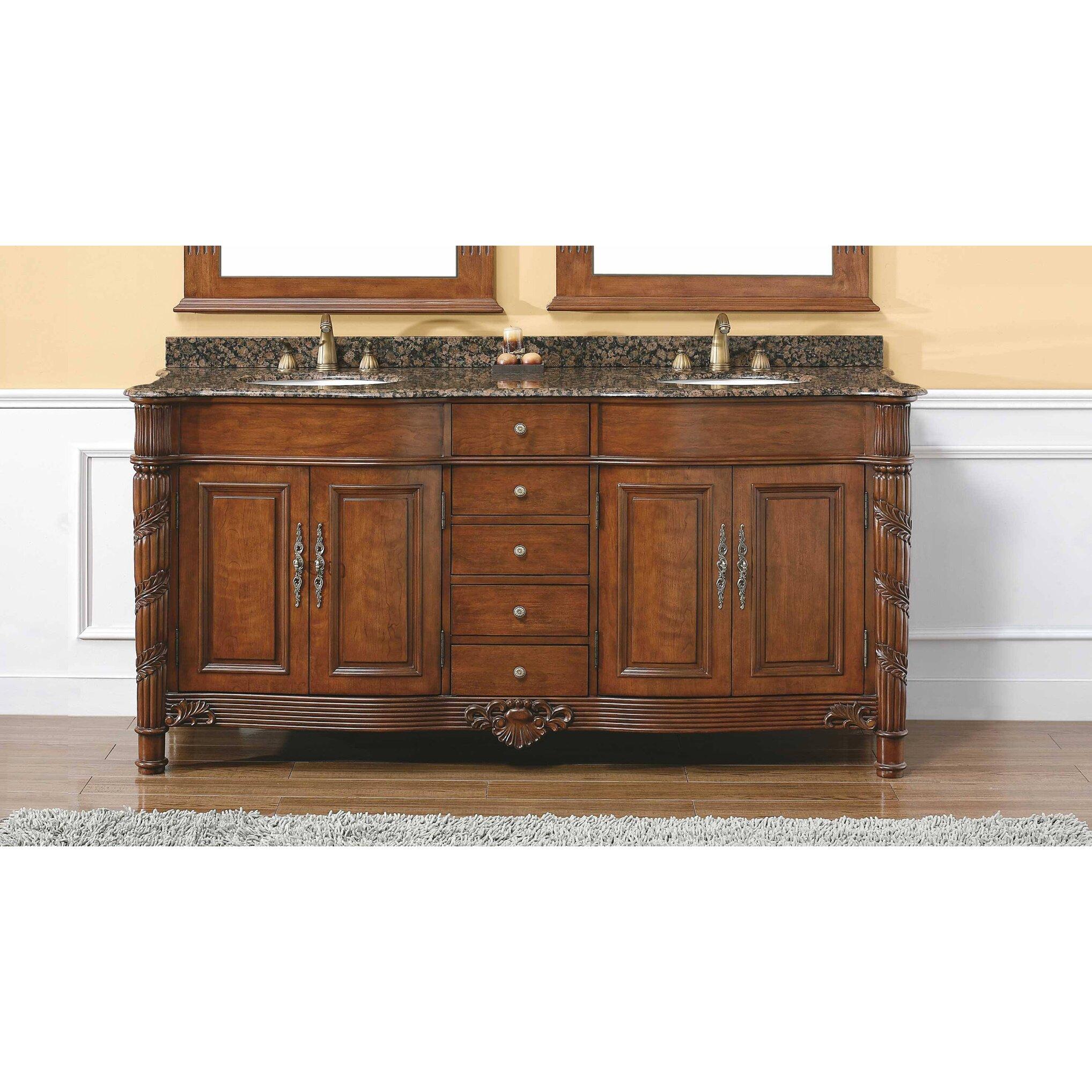 James Martin Furniture Classico 72 Double Cherry Bathroom Vanity Set Reviews Wayfair Supply