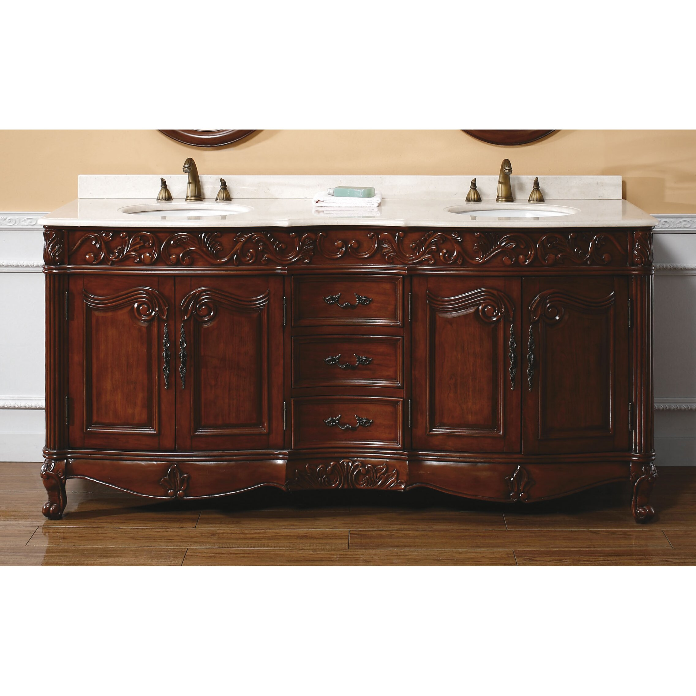 James martin furniture classico 72 double cherry bathroom - Wayfair furniture bathroom vanities ...
