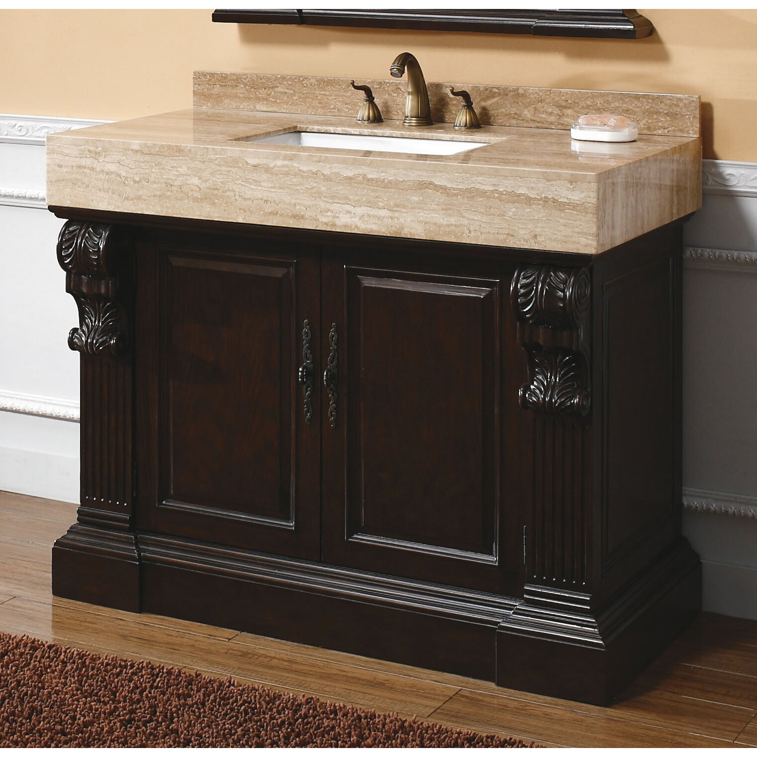 James martin furniture toscano 42 single cherry bathroom - Wayfair furniture bathroom vanities ...