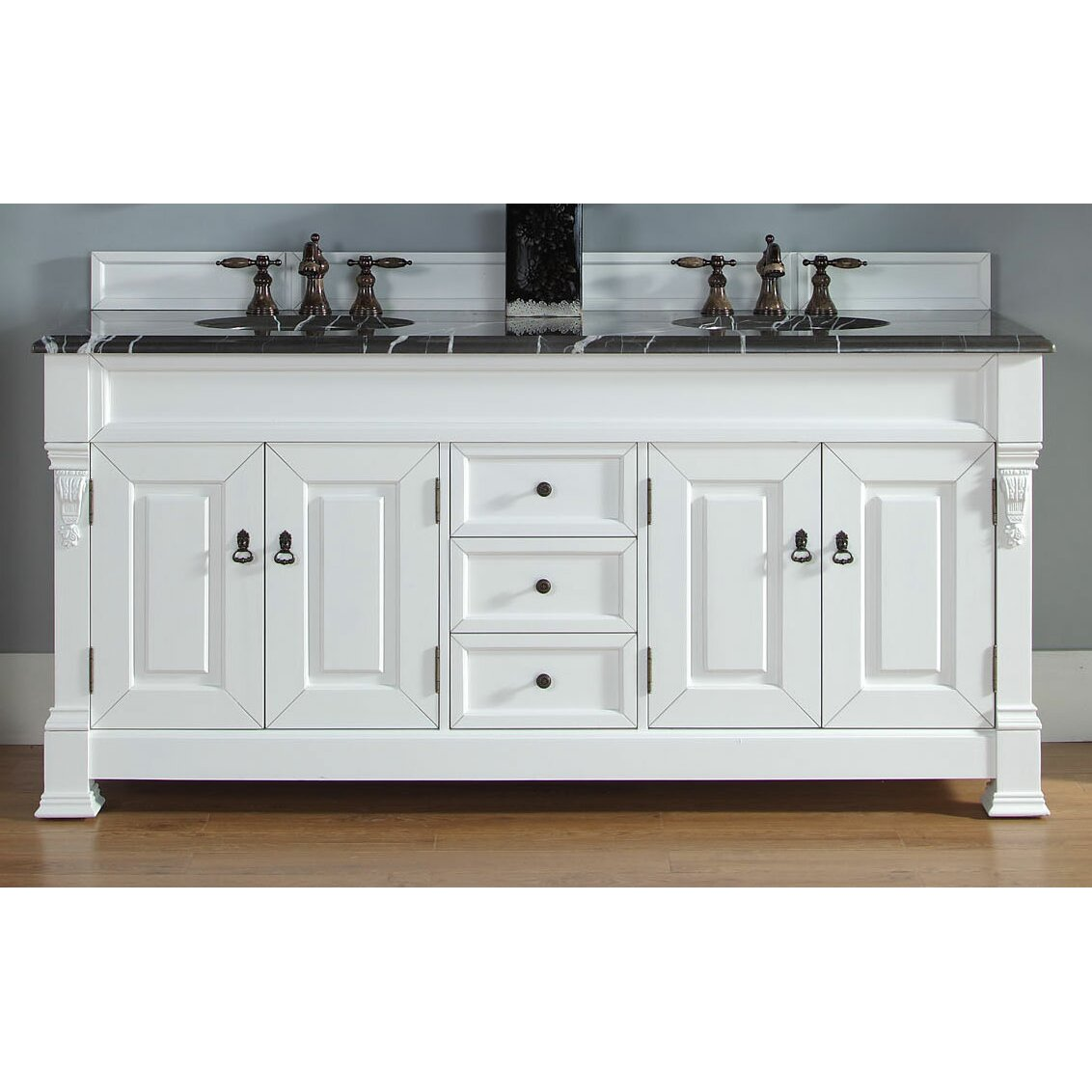 James martin furniture brookfield 72 double bathroom for Bathroom 72 double vanity