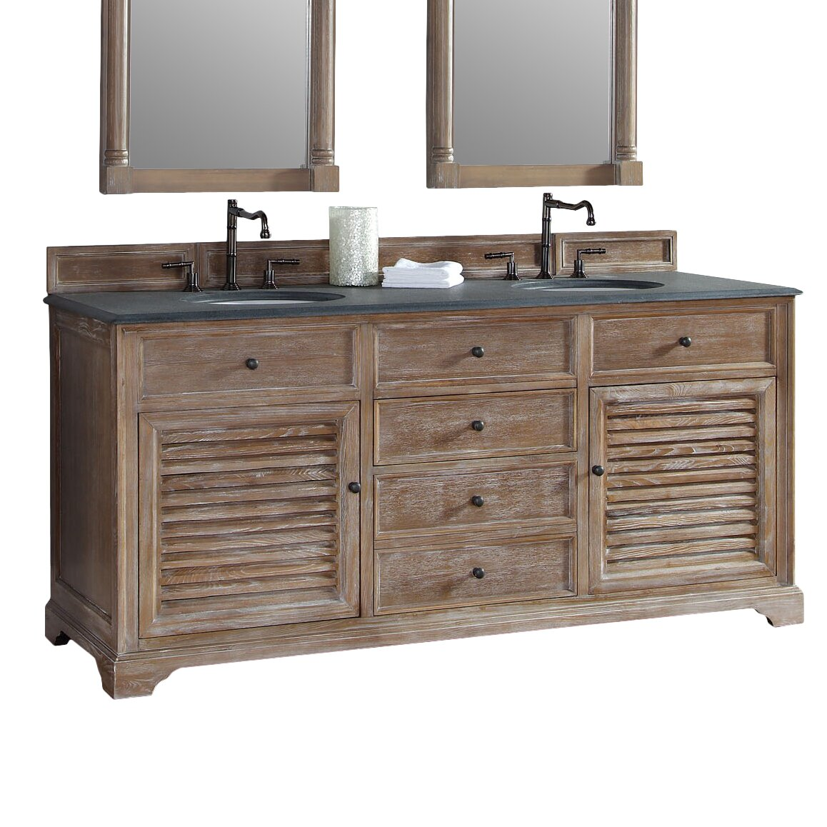 James Martin Furniture Providence 72 Double Vanity Base