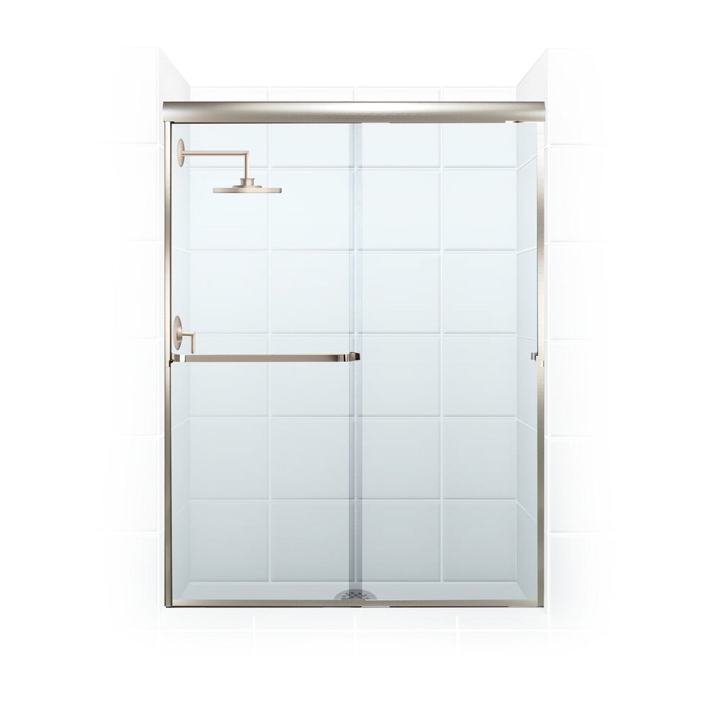 Coastal industries paragon series 58 x 58 rectangle for Bathtub sliding shower doors