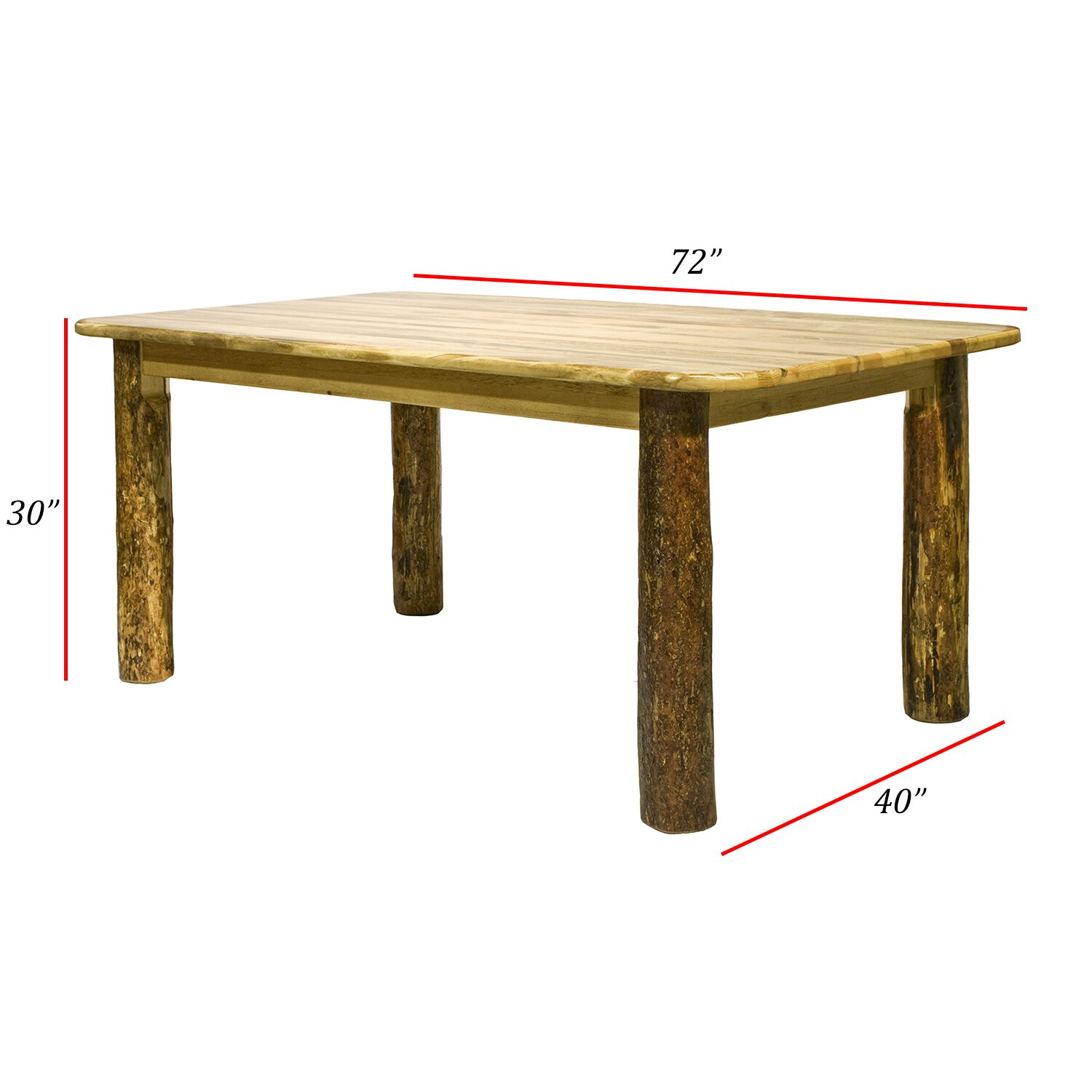Montana WoodworksC2AE Glacier Country 4 Post Dining Table HFA