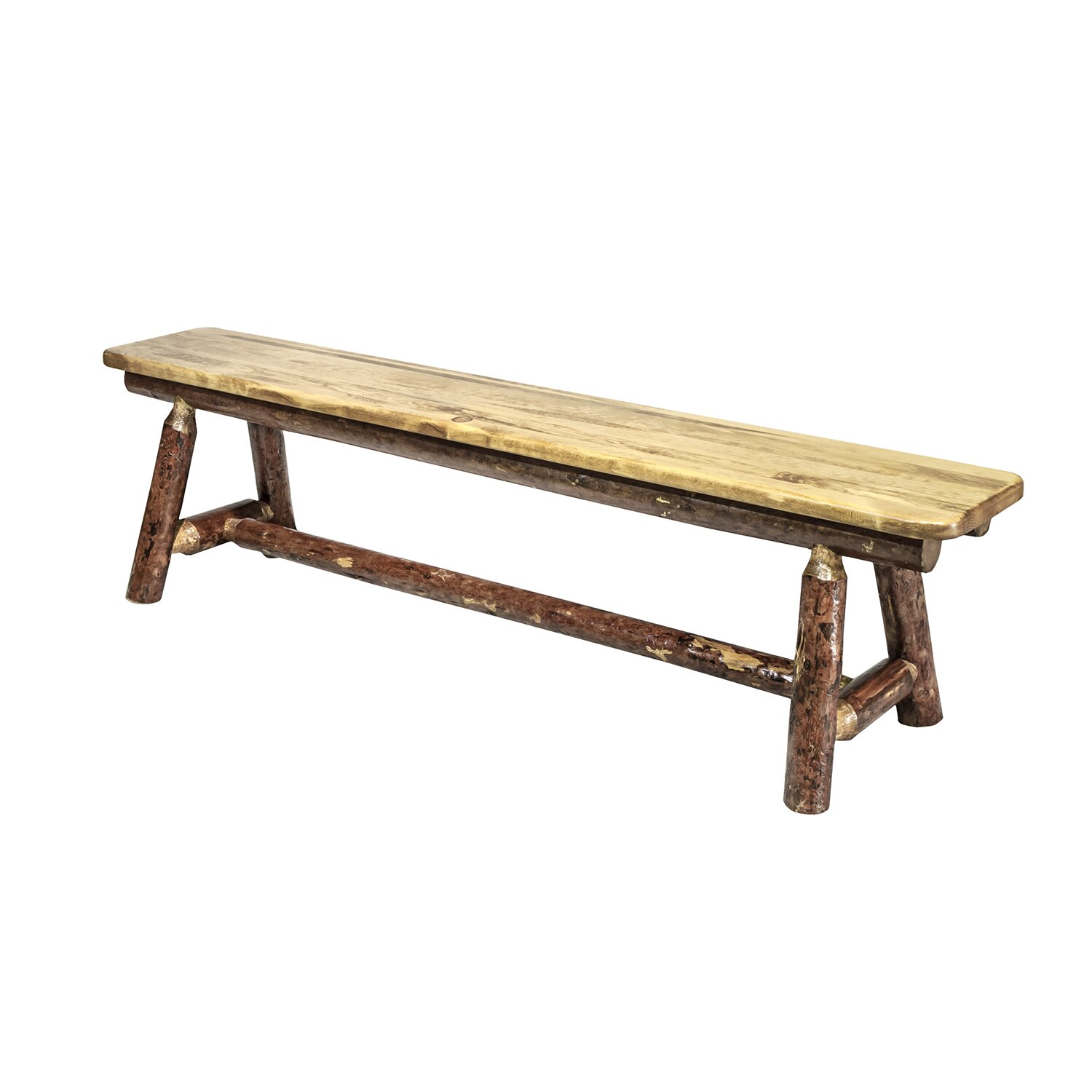 Montana Woodworks Glacier Country Plank Bench Reviews Wayfair