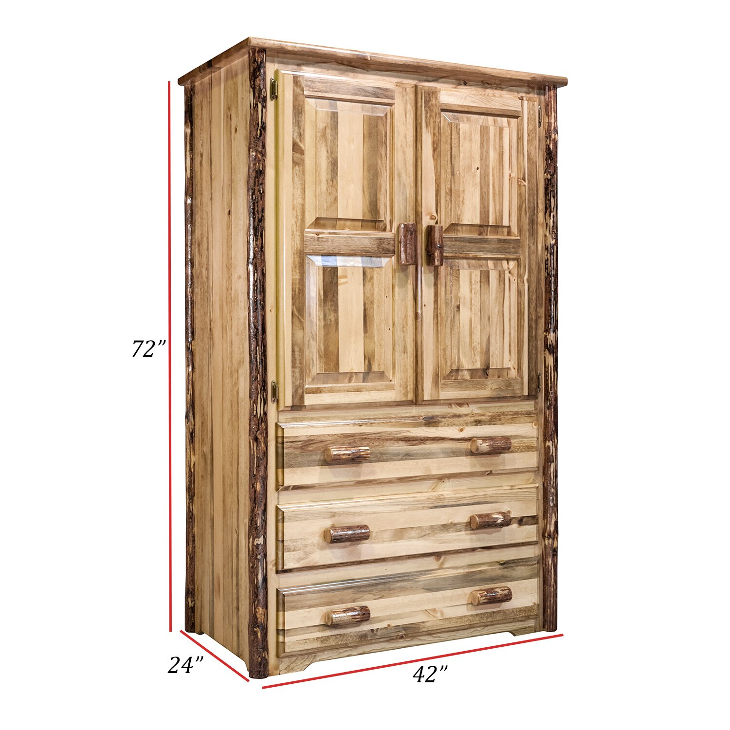 good cherry armoires grain armoire designe but armoire glassy montana glacier country armoire. Black Bedroom Furniture Sets. Home Design Ideas