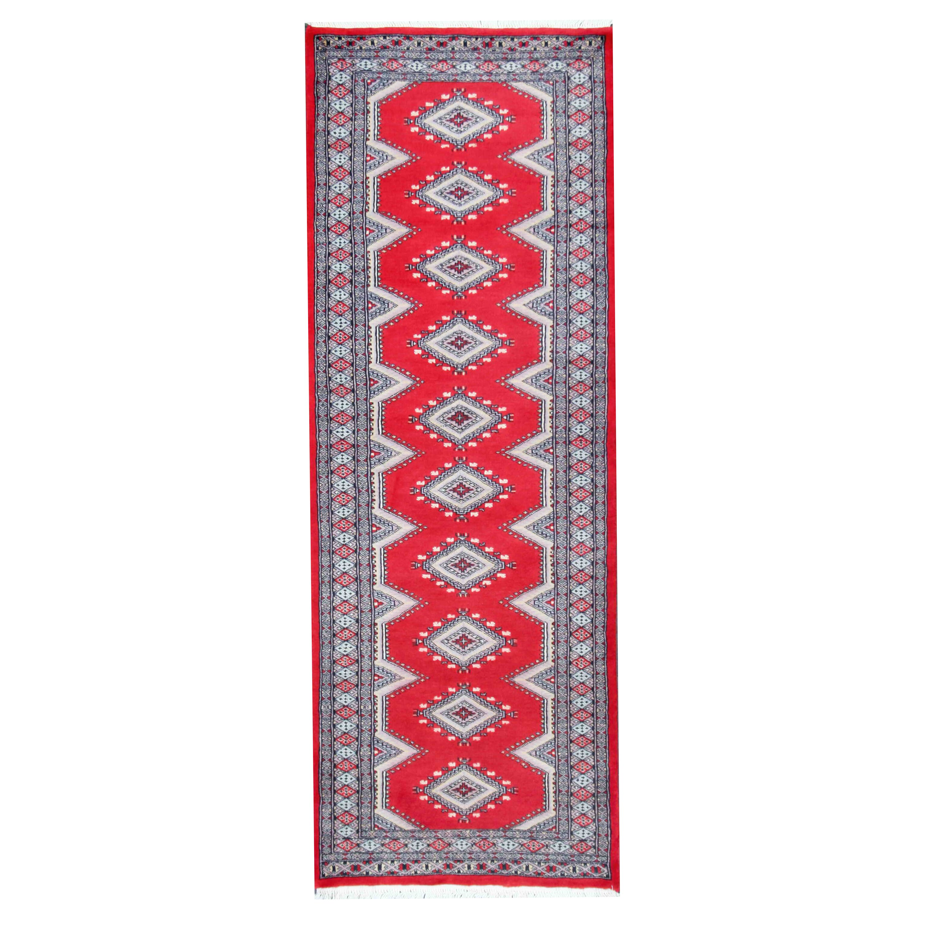 Herat Oriental Tribal Bokhara Hand Knotted Red Area Rug