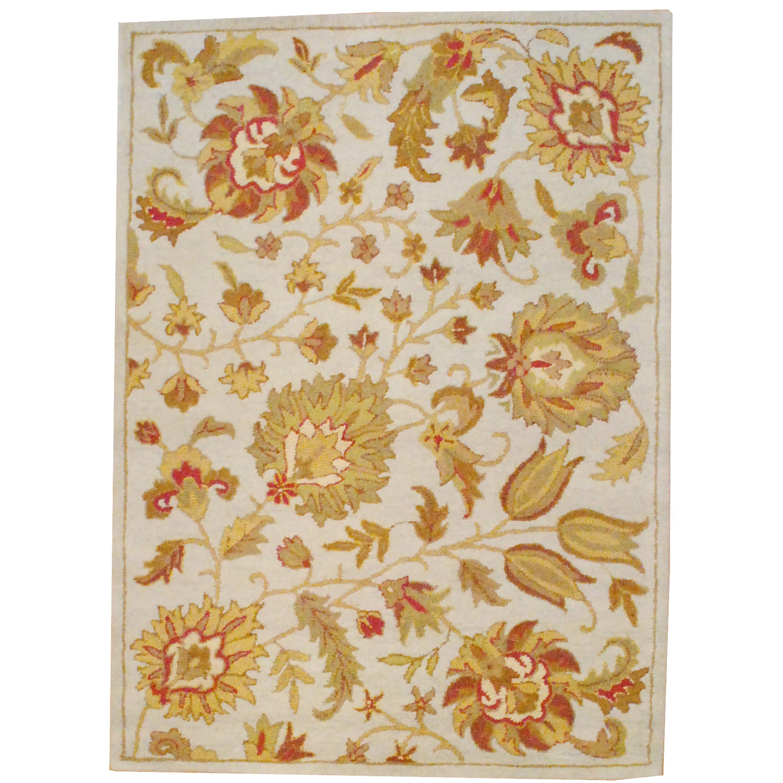 Stella Collection Hand Tufted Area Rug In Beige Light: Herat Oriental Hand Tufted Wool Beige/Light Green Area Rug