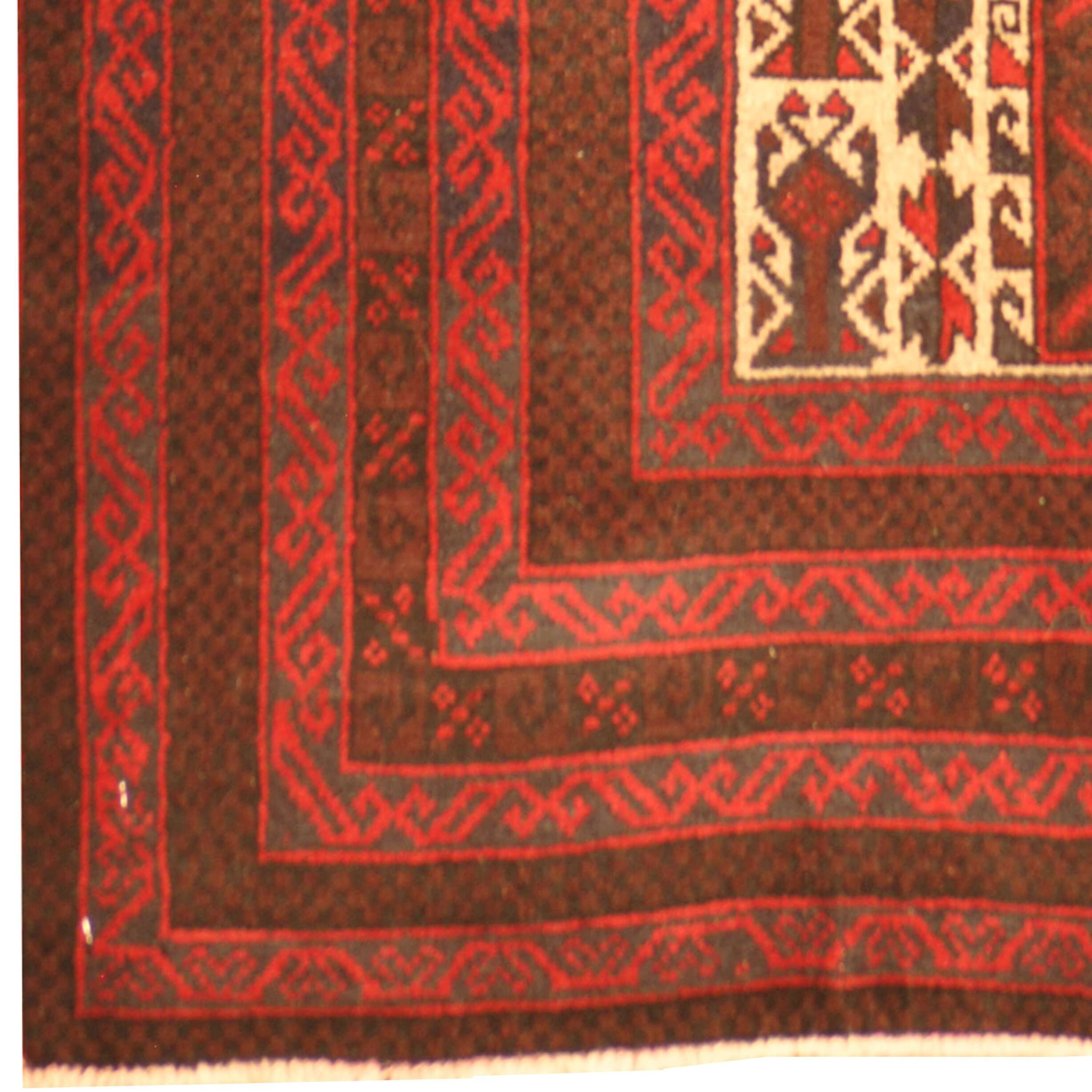 Herat Oriental Hand Tufted Wool Red Black Area Rug: Herat Oriental Balouchi Hand Knotted Wool Red/Brown Area