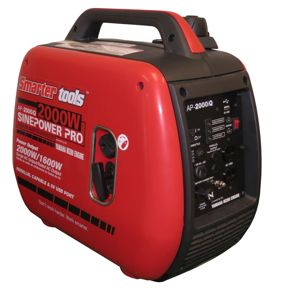 Smarter tools 2000 watt carb gasoline inverter generator for Yamaha generator 2000