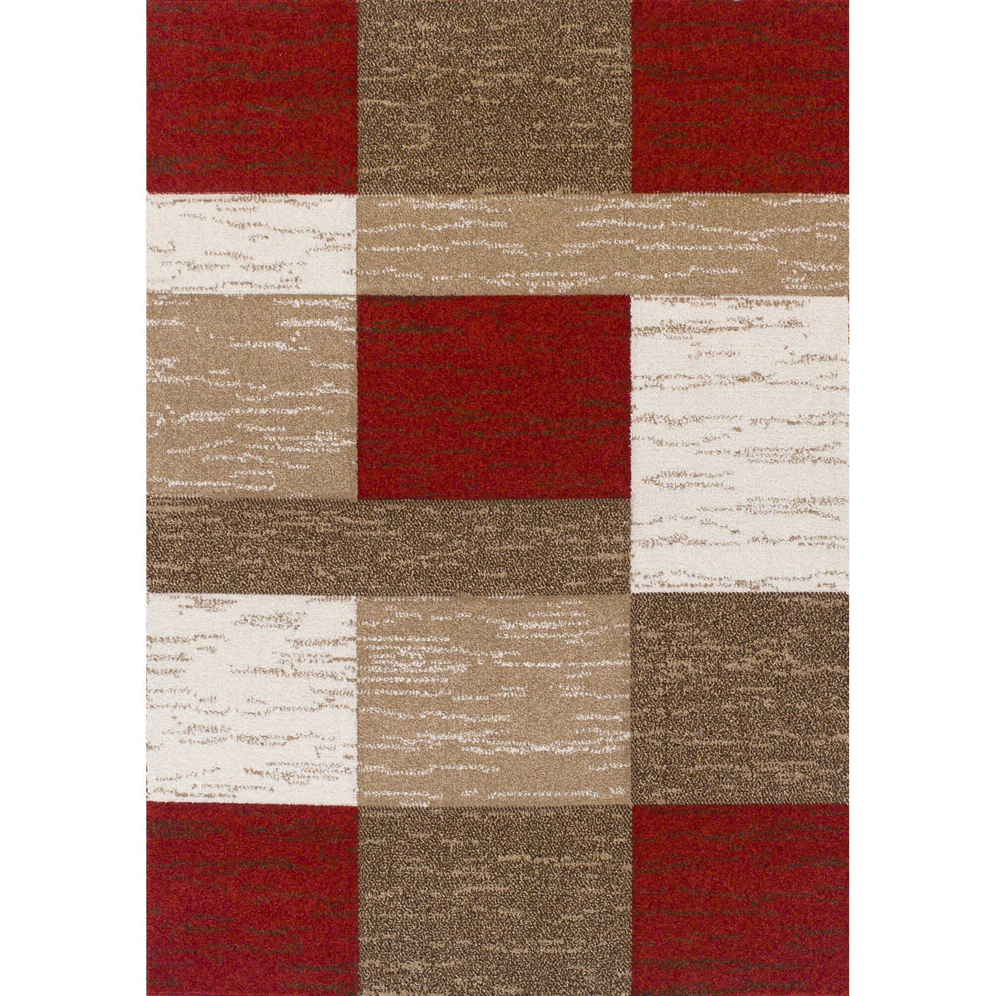 Brook Lane Rugs Viva Red/Beige Area Rug & Reviews
