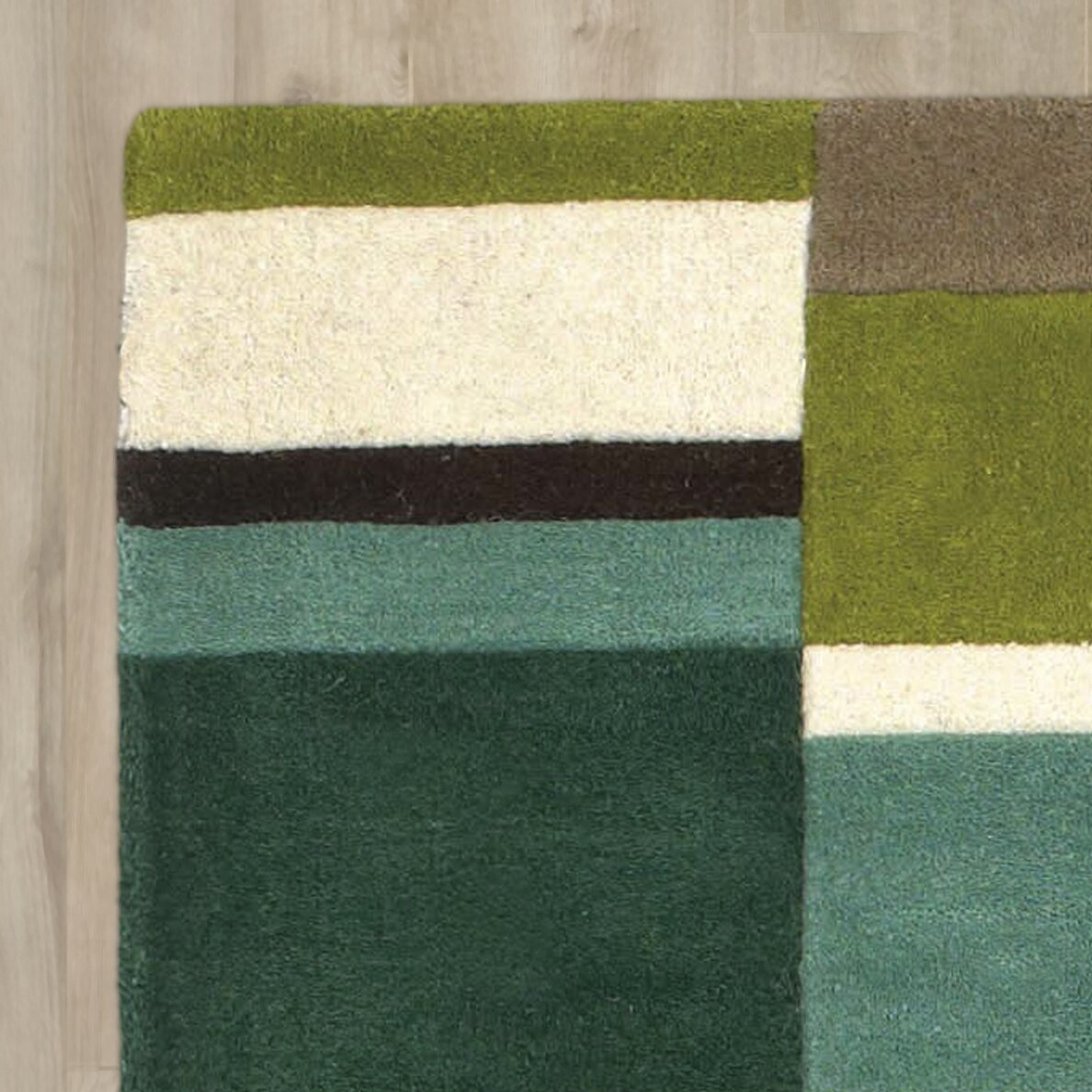 Brook Lane Rugs Jazz Hand-Woven Green Area Rug & Reviews