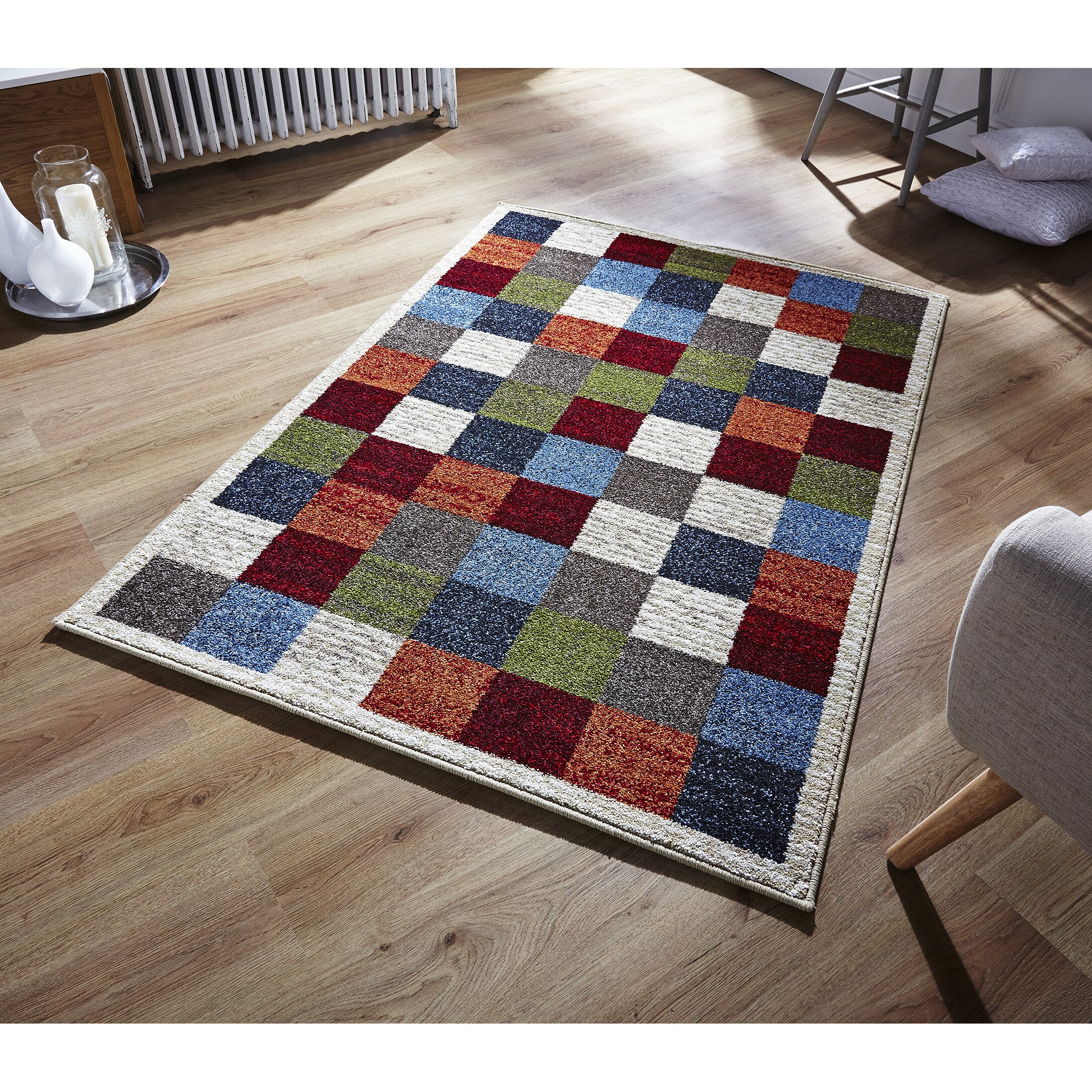 brook lane rugs zante grey red area rug reviews wayfair uk. Black Bedroom Furniture Sets. Home Design Ideas