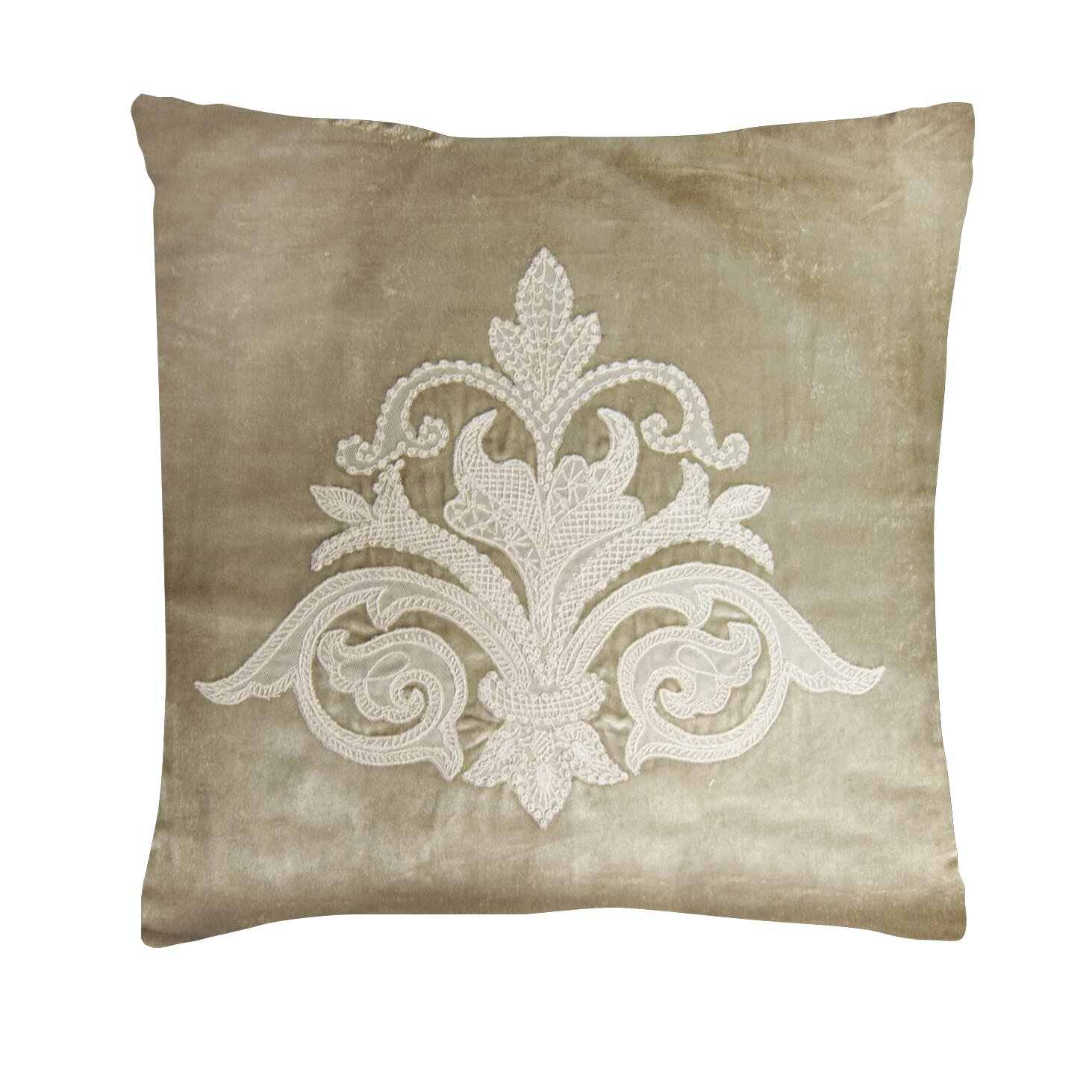 Throw Pillows With Lace : Heritage Lace Downton Abbey Throw Pillow & Reviews Wayfair