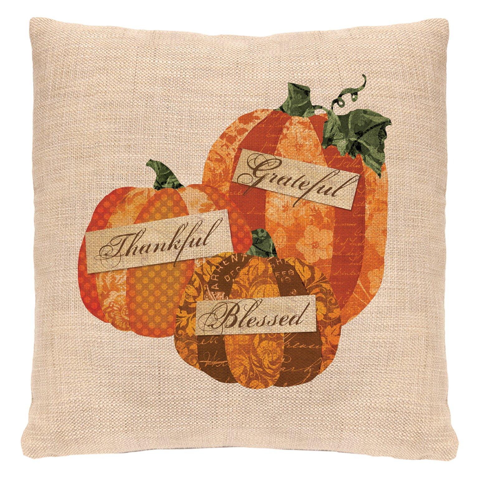 Heritage Lace Patchwork Pumpkin Throw Pillow Wayfair