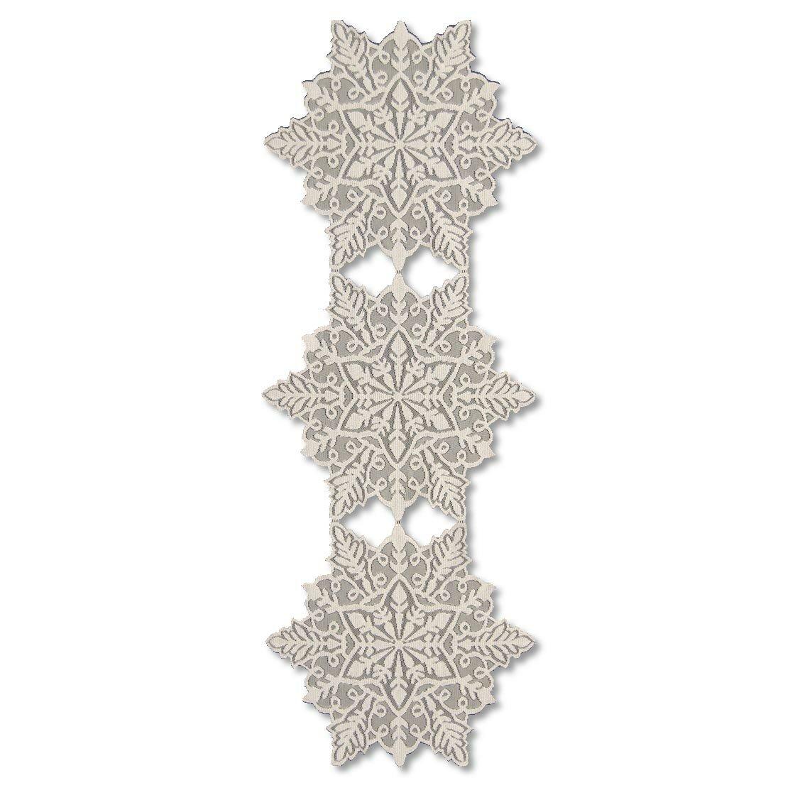 Heritage Lace Silver Snowflake Table Runner & Reviews | Wayfair