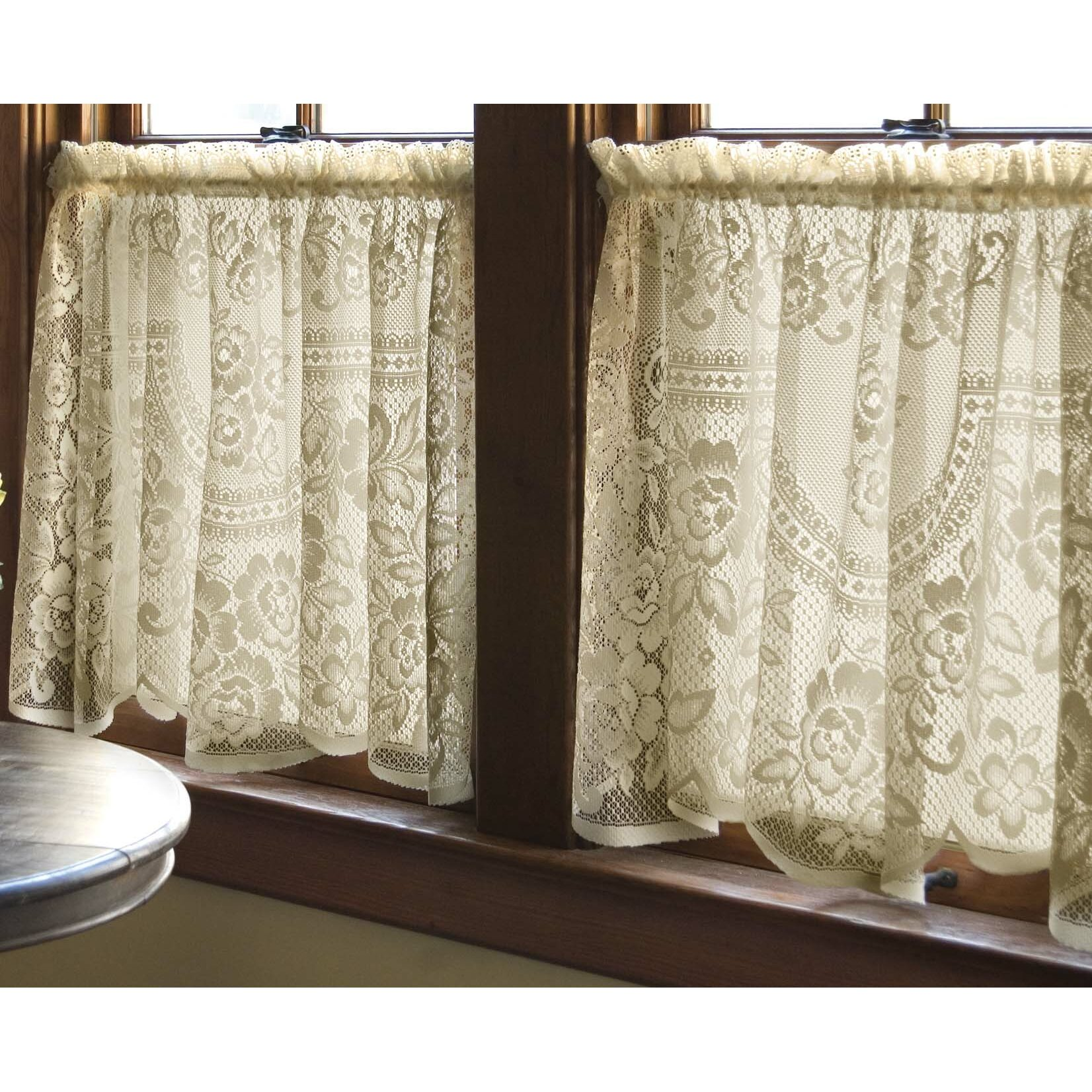 Heritage Lace Victorian Rose Single Curtain Panel
