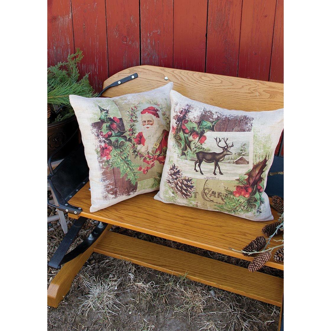 Heritage Lace Woodland Christmas Reindeer Throw Pillow & Reviews Wayfair